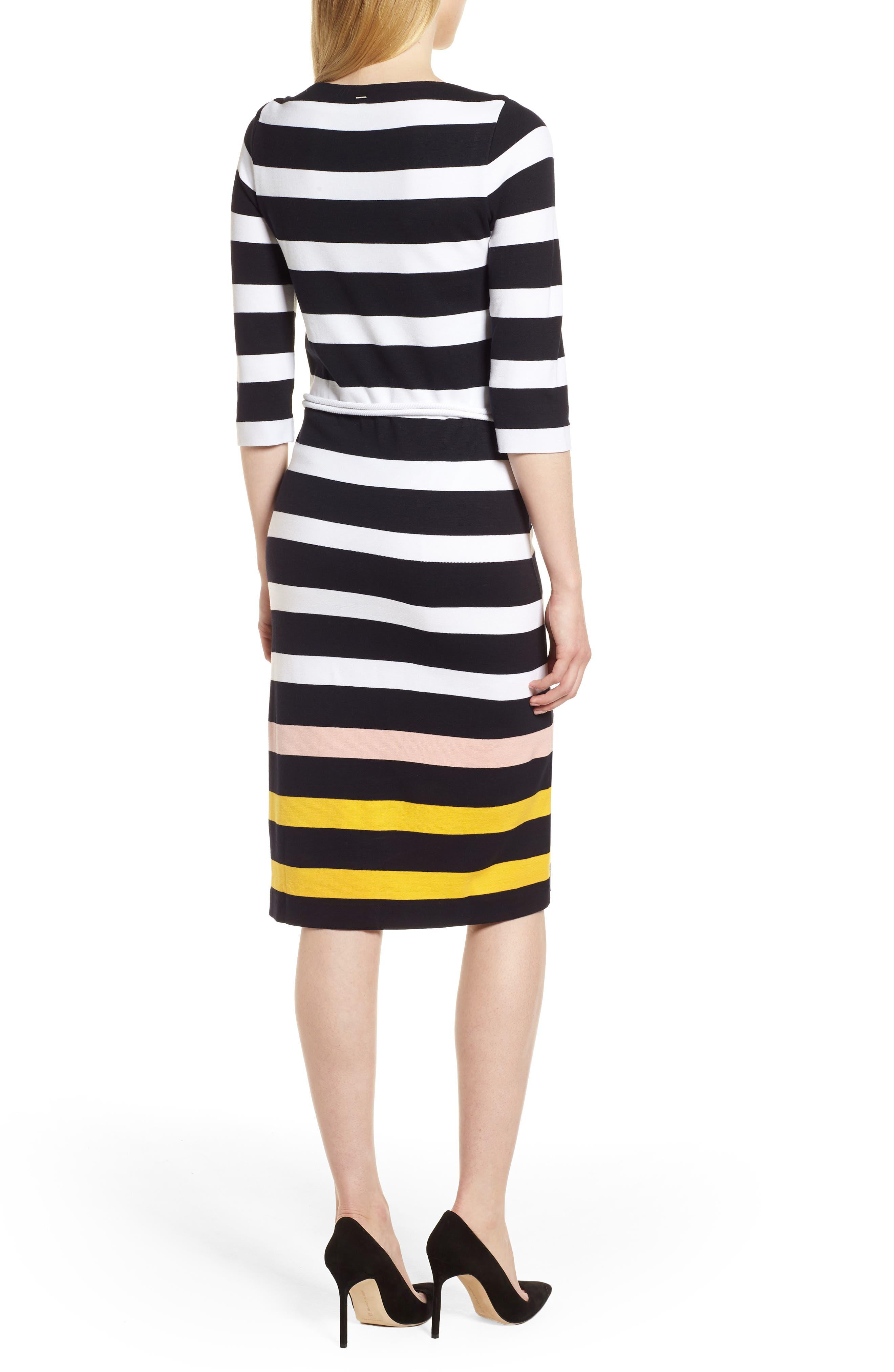Elsara Stripe Sheath Dress,                             Alternate thumbnail 2, color,                             Navy Fantasy
