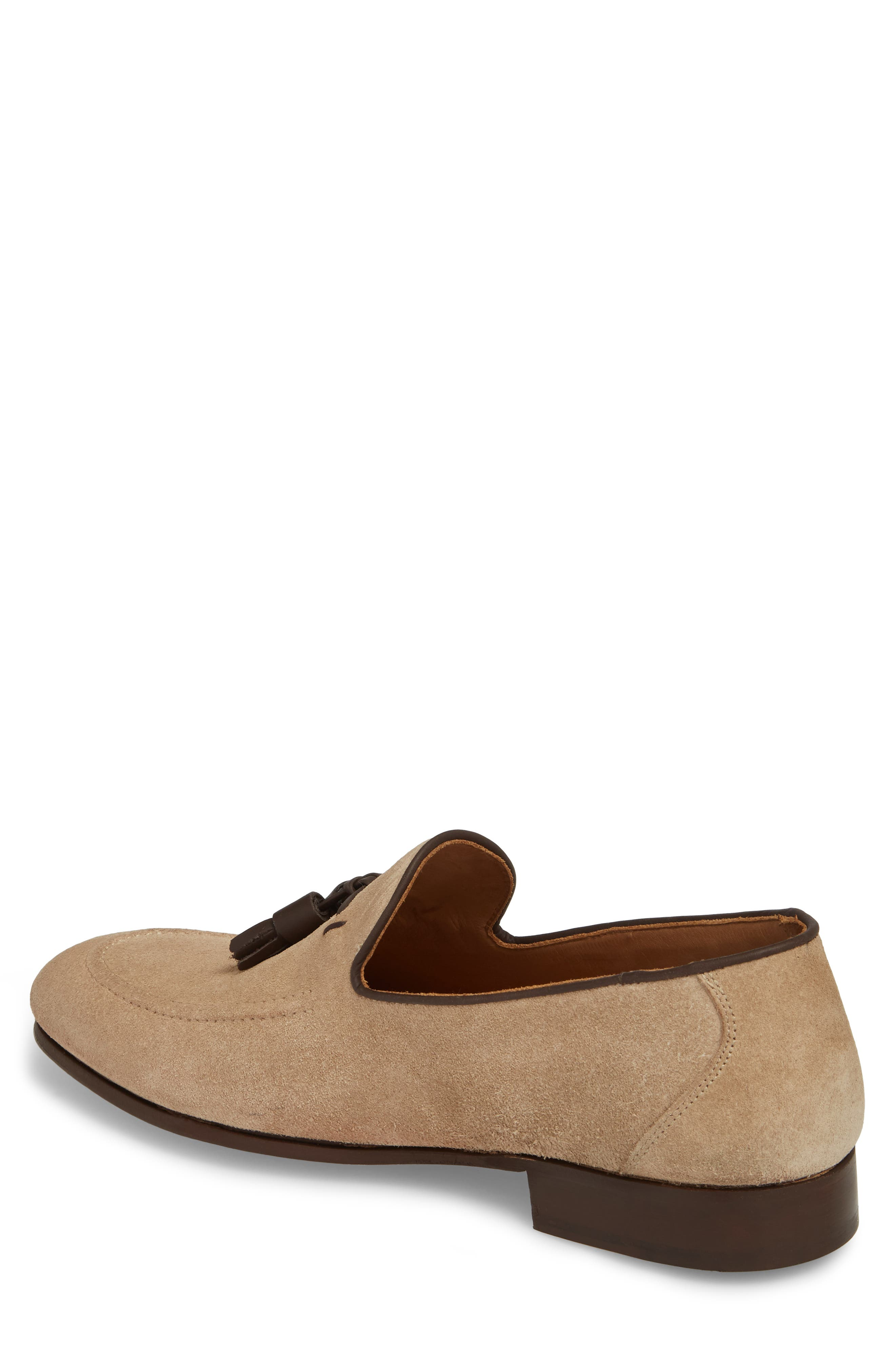 Ario Tassel Loafer,                             Alternate thumbnail 2, color,                             Sand Suede