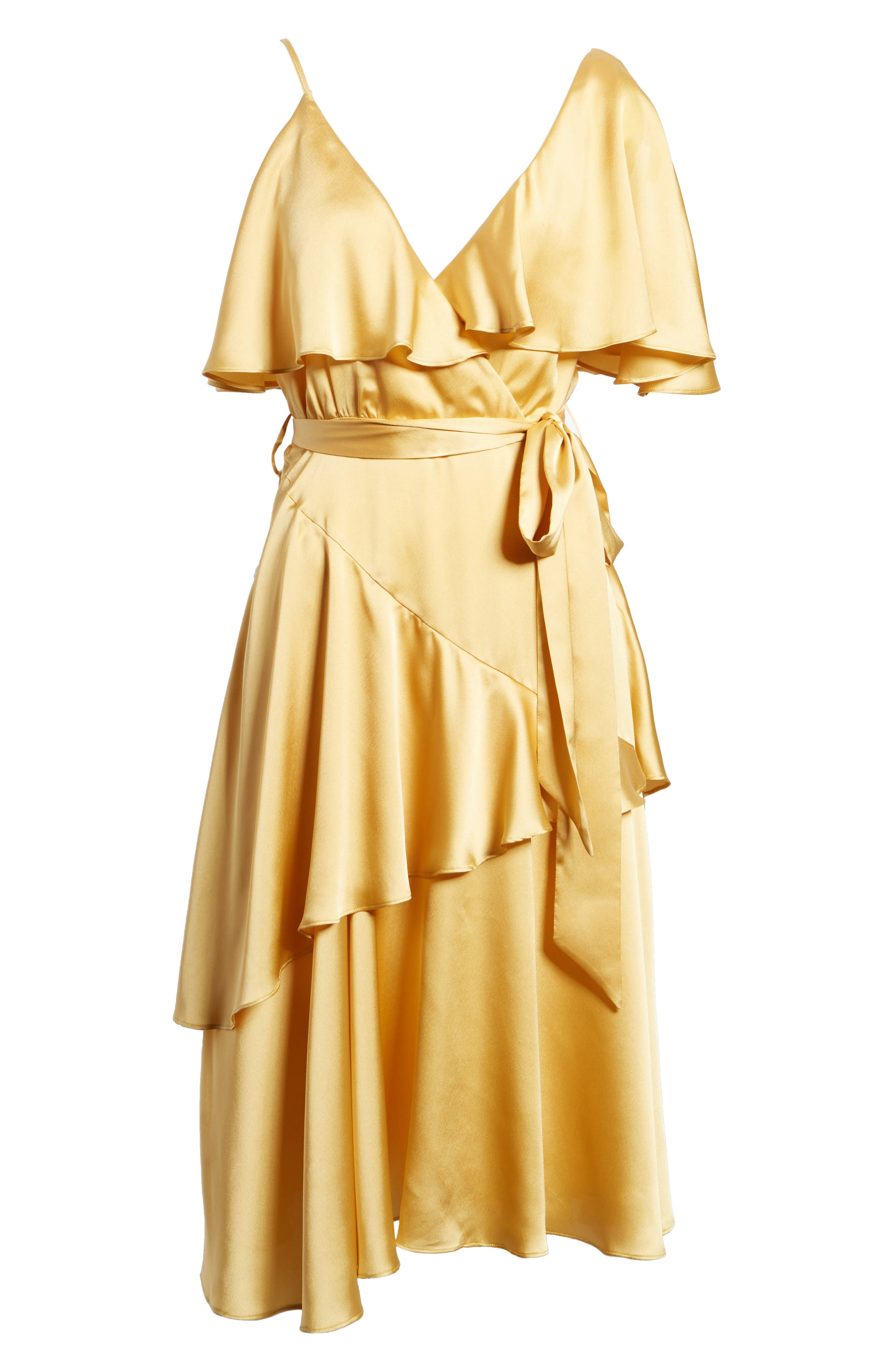 Deconstructed Tea Dress,                             Alternate thumbnail 7, color,                             Yellow