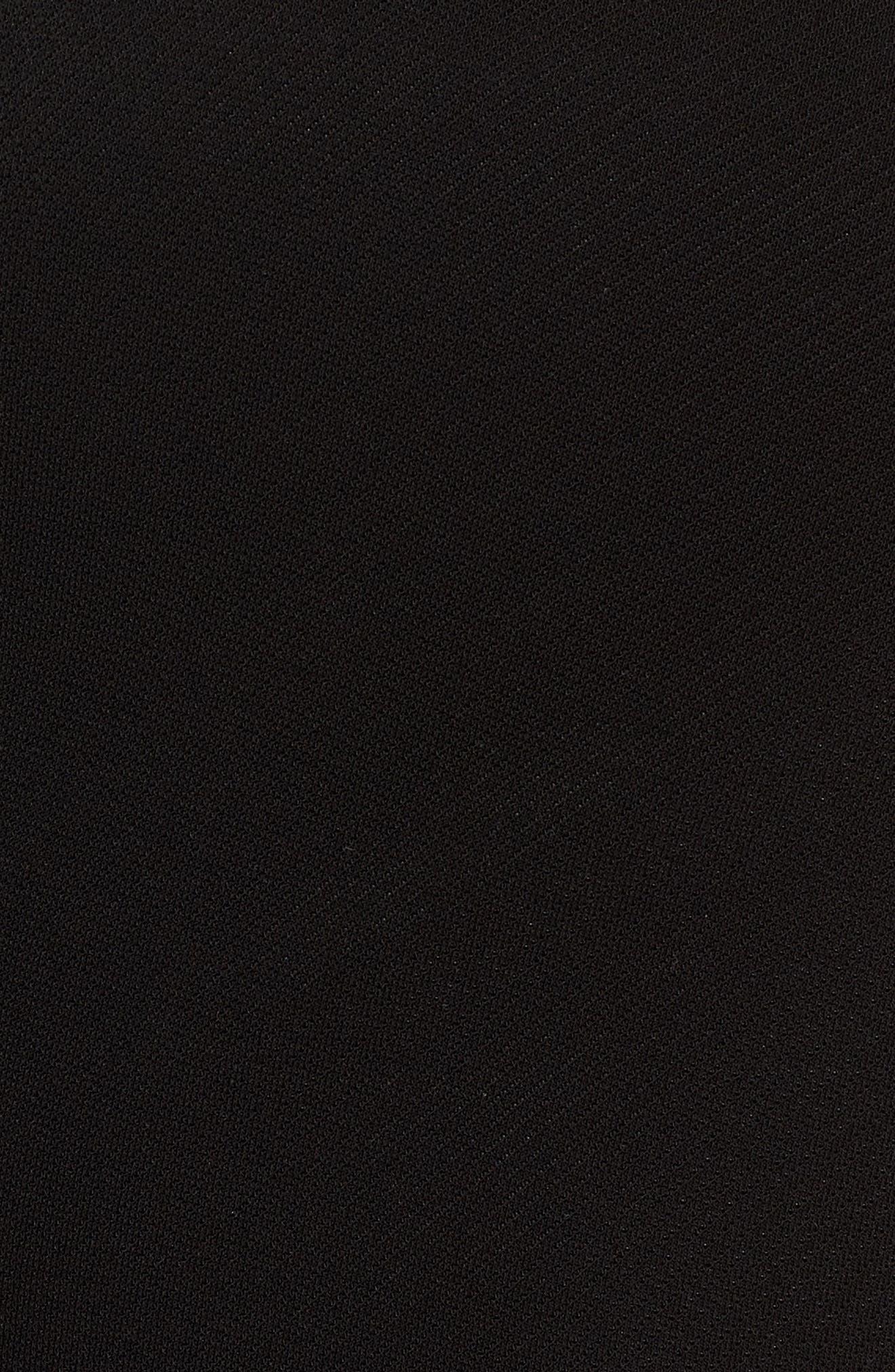 Erela Ruched Sheath Dress,                             Alternate thumbnail 6, color,                             Black