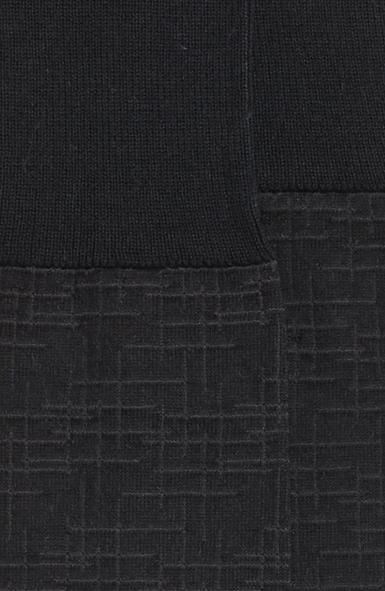 Crosshatch Over the Calf Socks,                             Alternate thumbnail 2, color,                             Black/ Charcoal