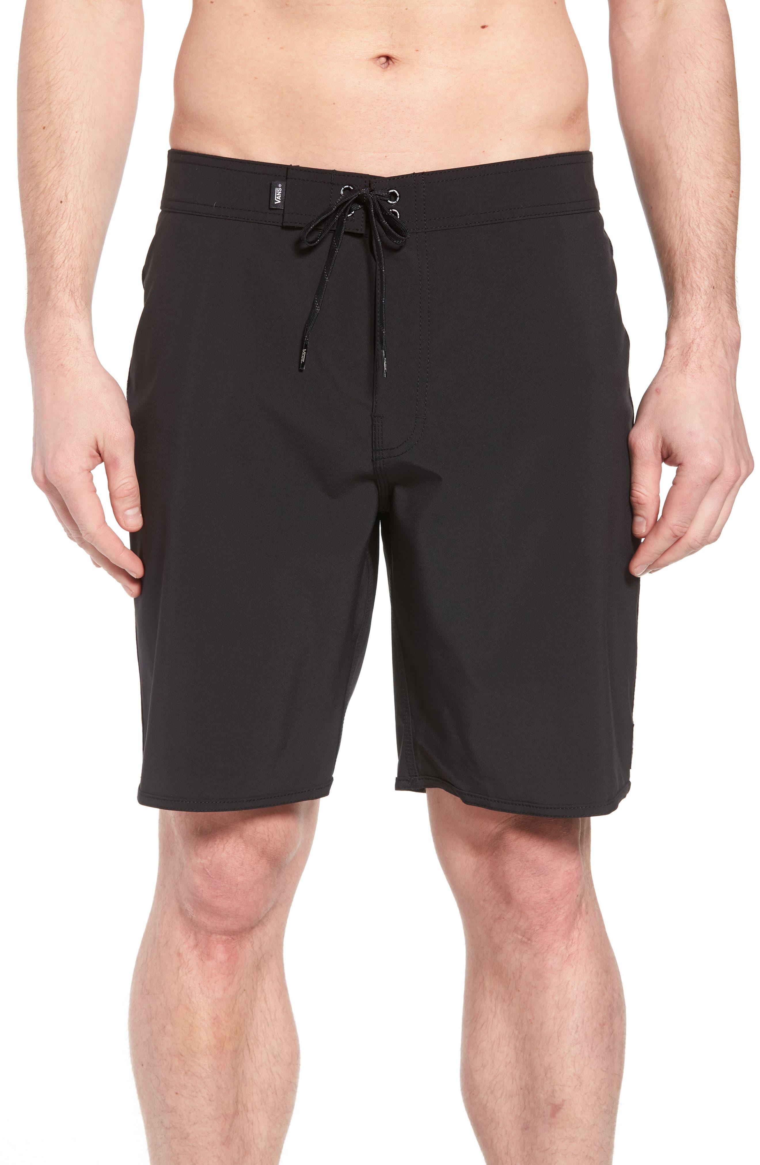 Houser Side Stripe Board Shorts,                         Main,                         color, Black