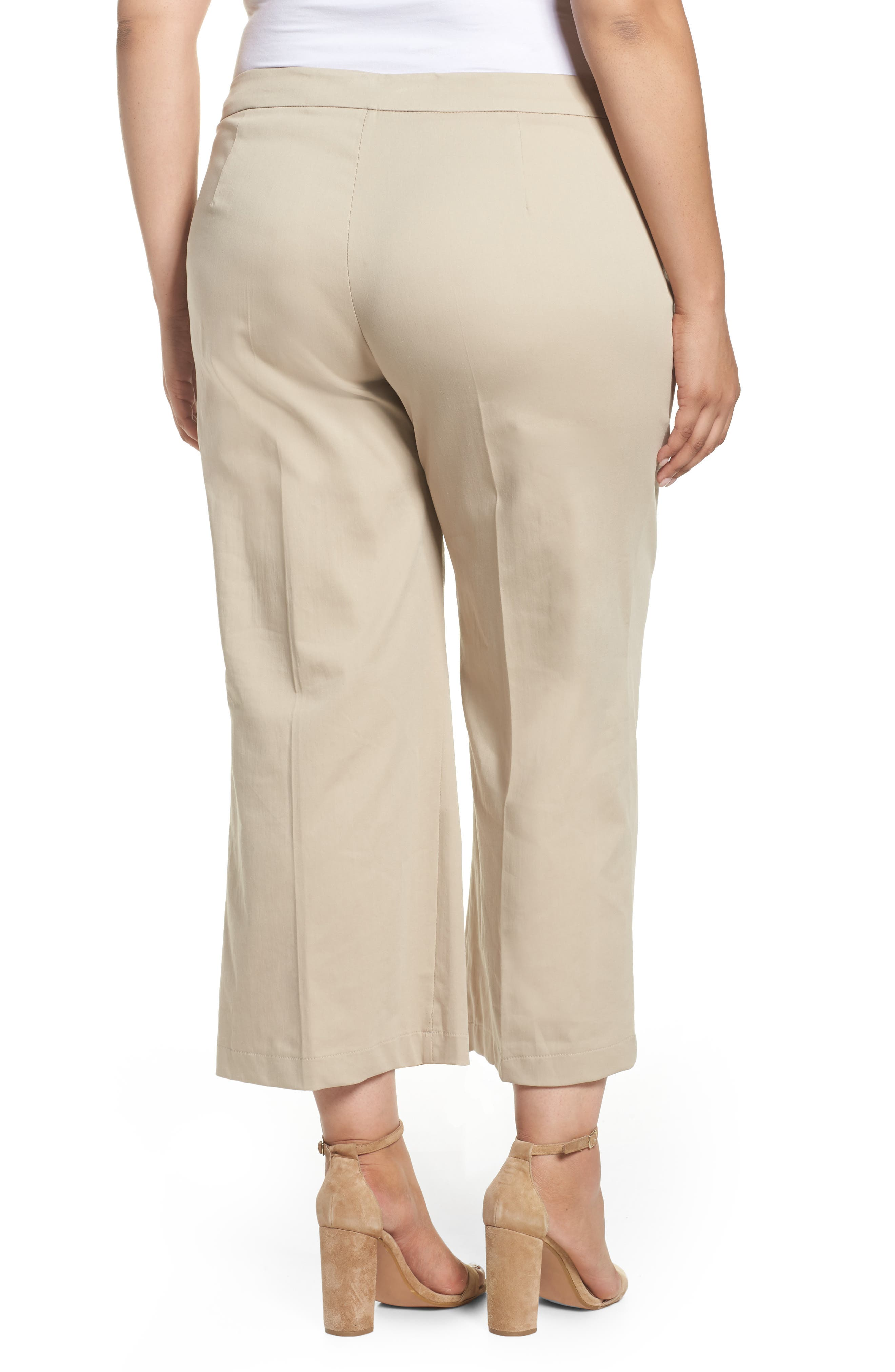 Crop Pants,                             Alternate thumbnail 2, color,                             Dark Beige
