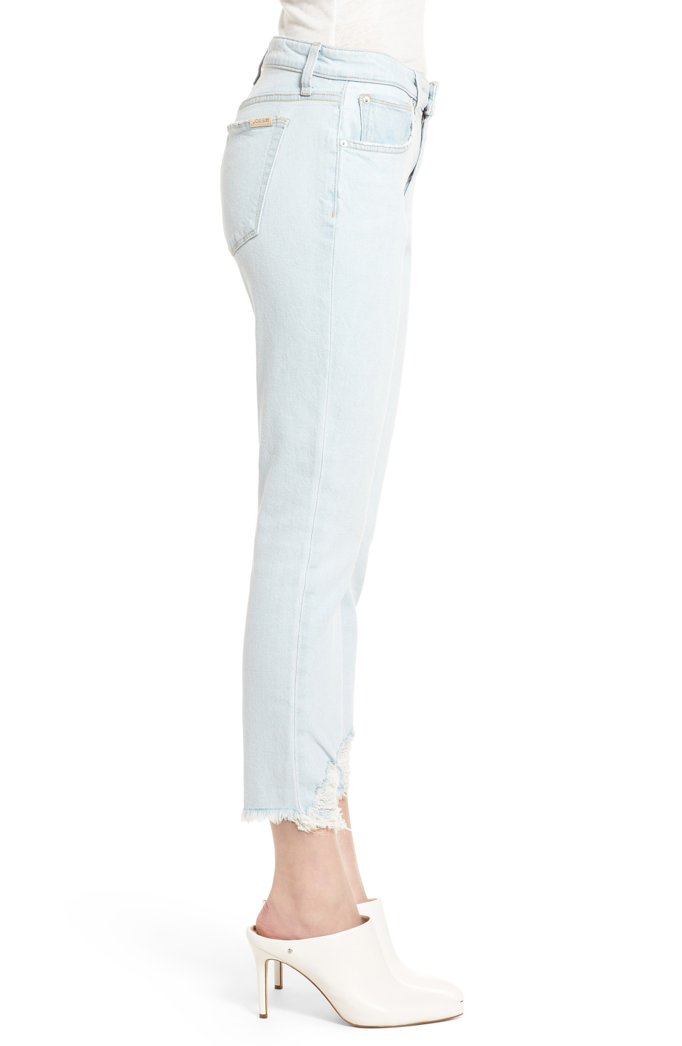 Smith Crop Boyfriend Jeans,                             Alternate thumbnail 4, color,                             Liya