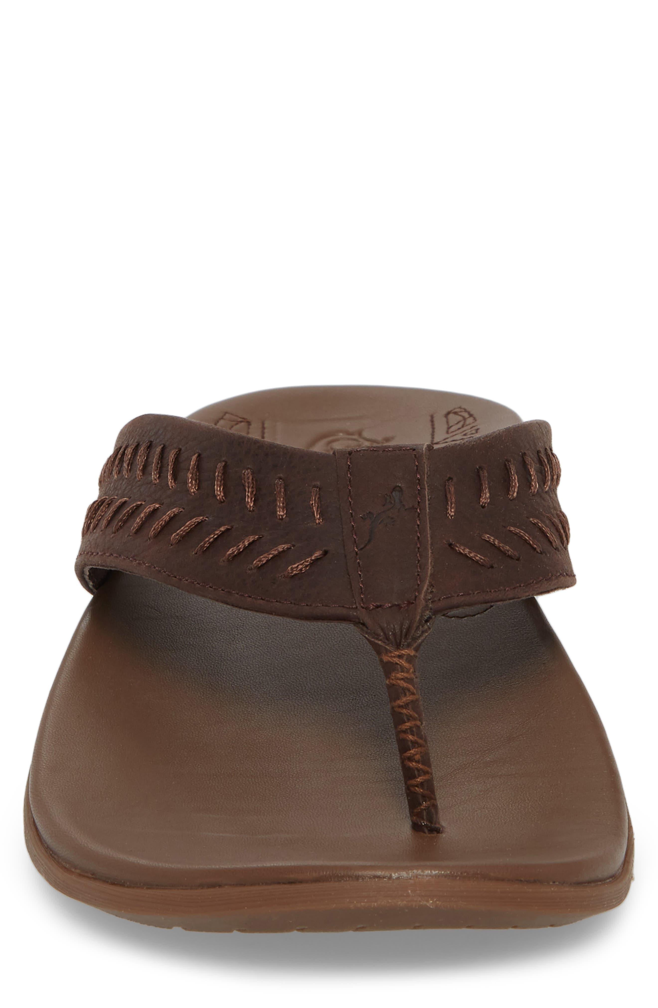 Jackson Flip Flop,                             Alternate thumbnail 4, color,                             Java Leather
