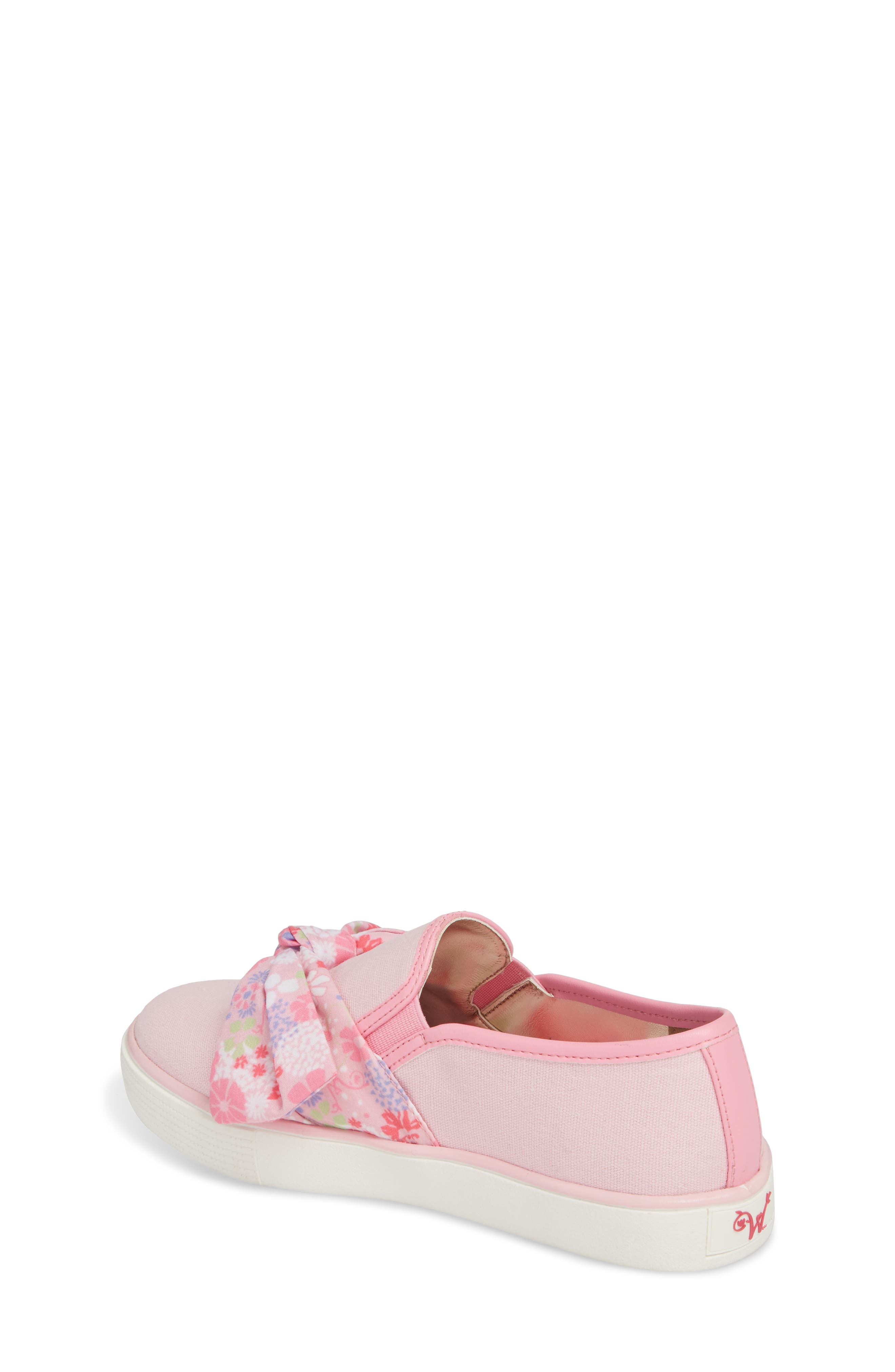 Ashlyn Bow Slip-On Sneaker,                             Alternate thumbnail 2, color,                             Orchid Pink