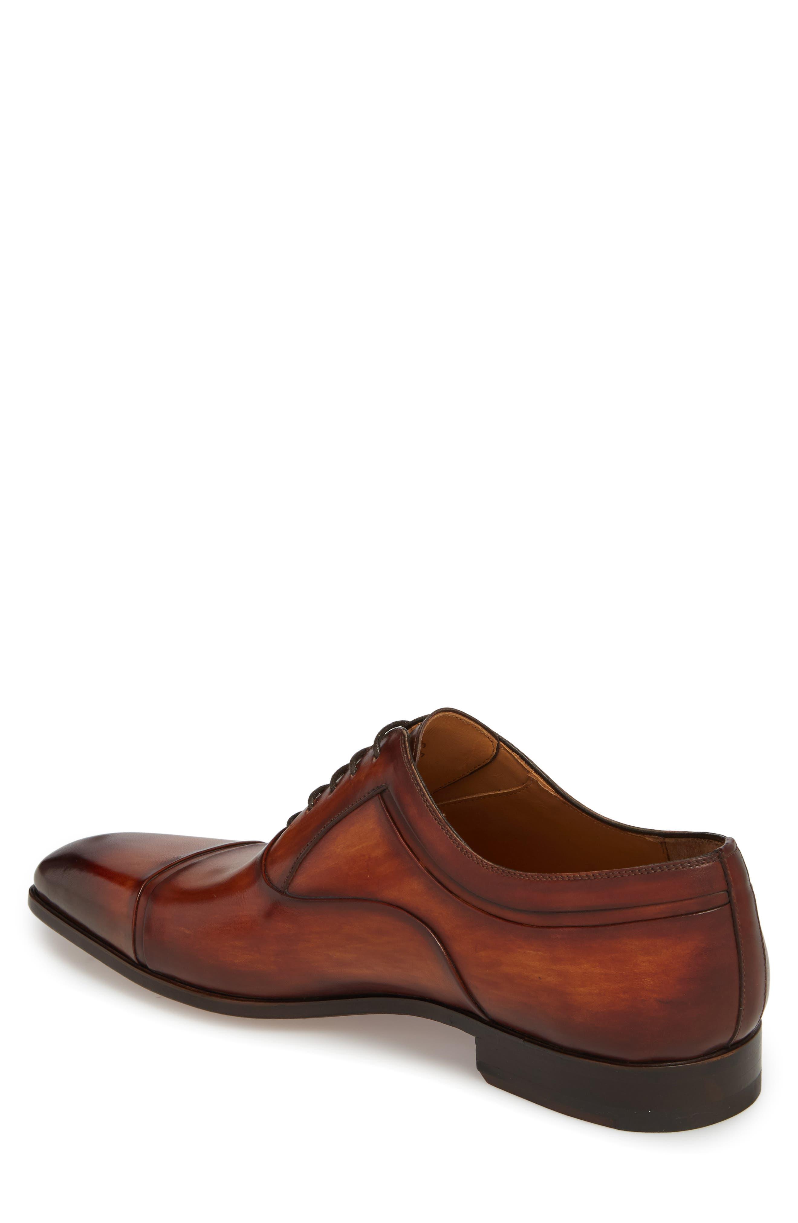 Tobin Cap Toe Oxford,                             Alternate thumbnail 2, color,                             Cognac Leather