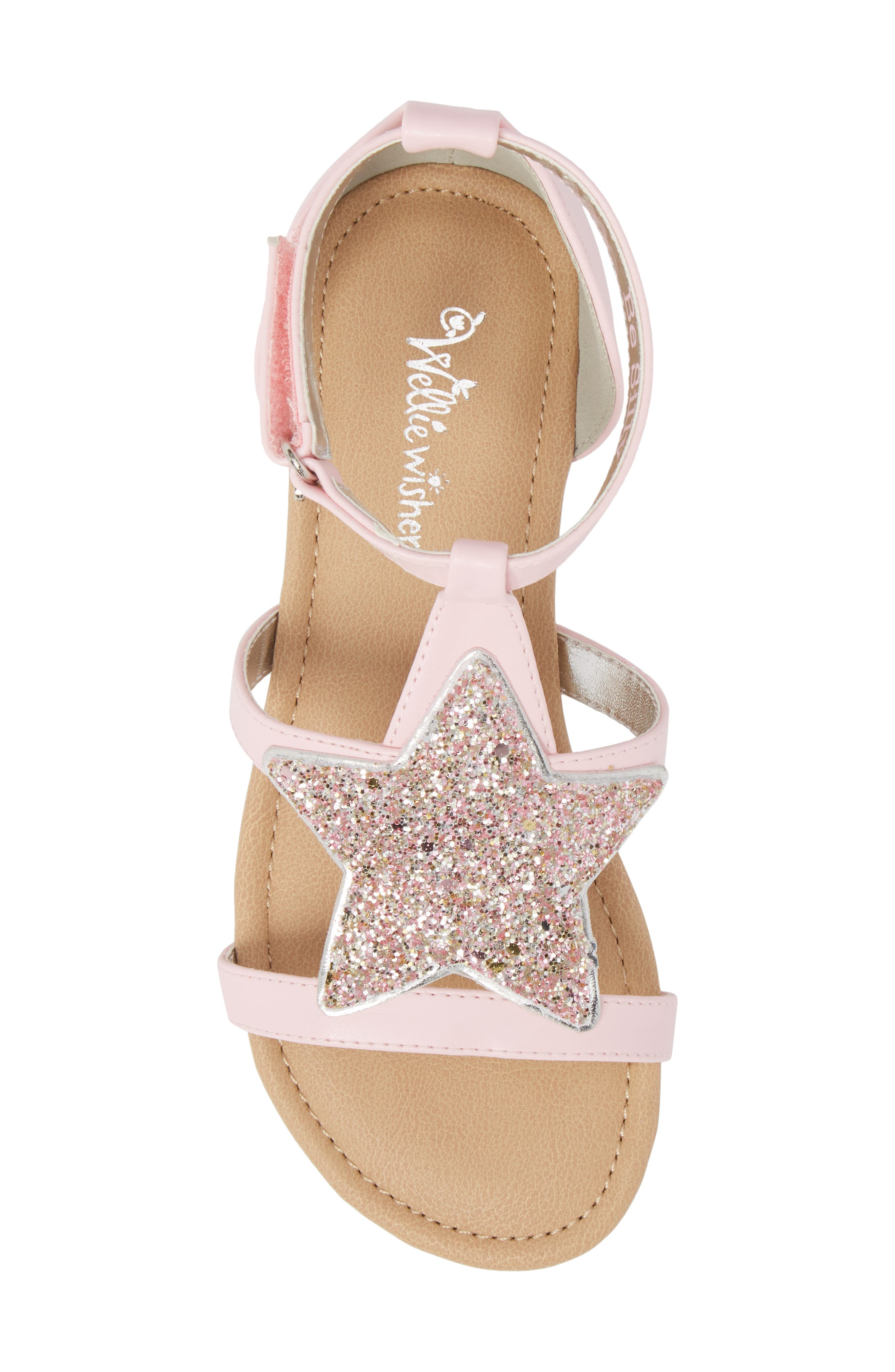 Emerson Glitter Star Sandal,                             Alternate thumbnail 5, color,                             Orchid Pink