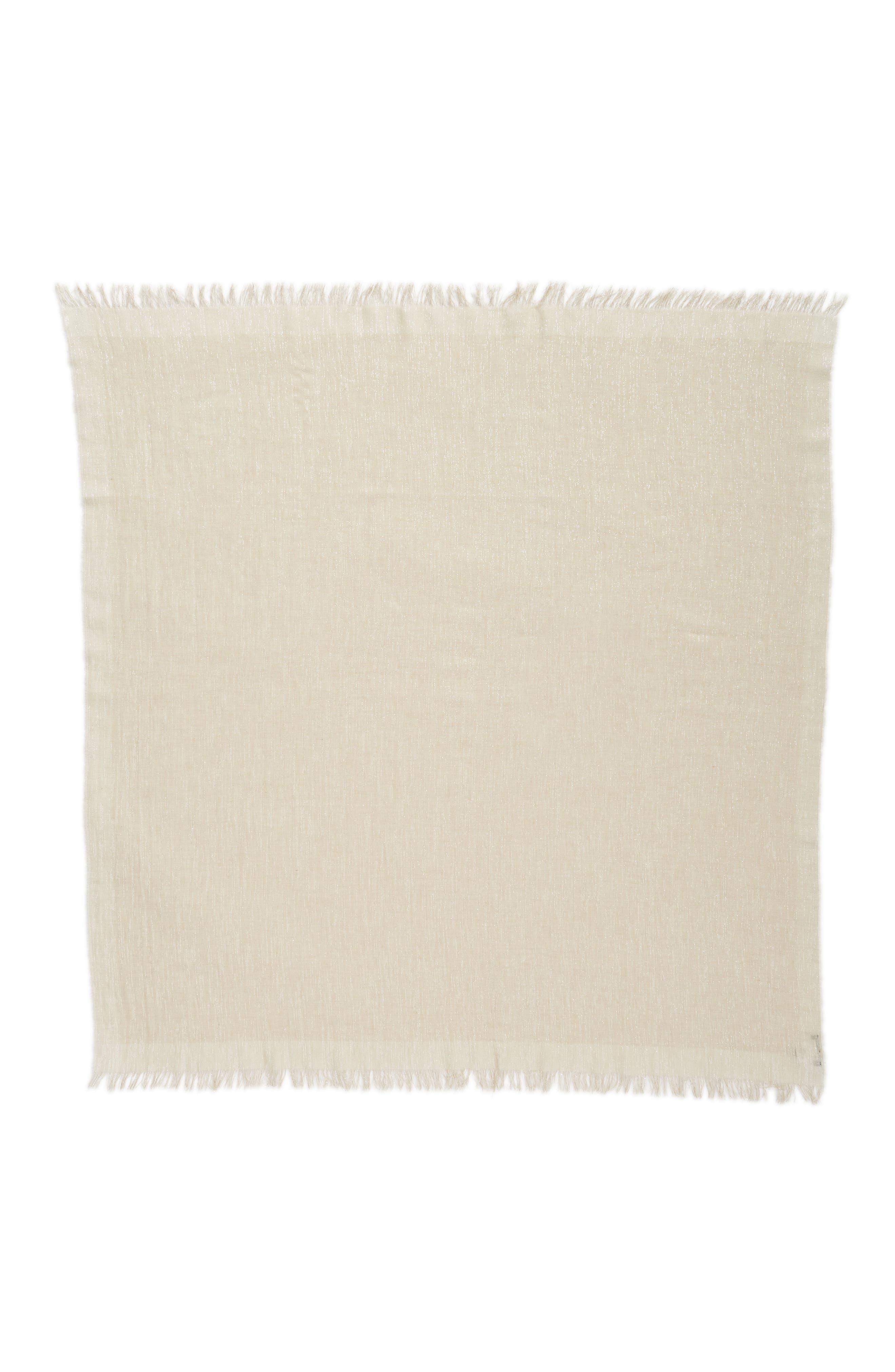 Organic Cotton Blend Wrap,                             Alternate thumbnail 3, color,                             Natural
