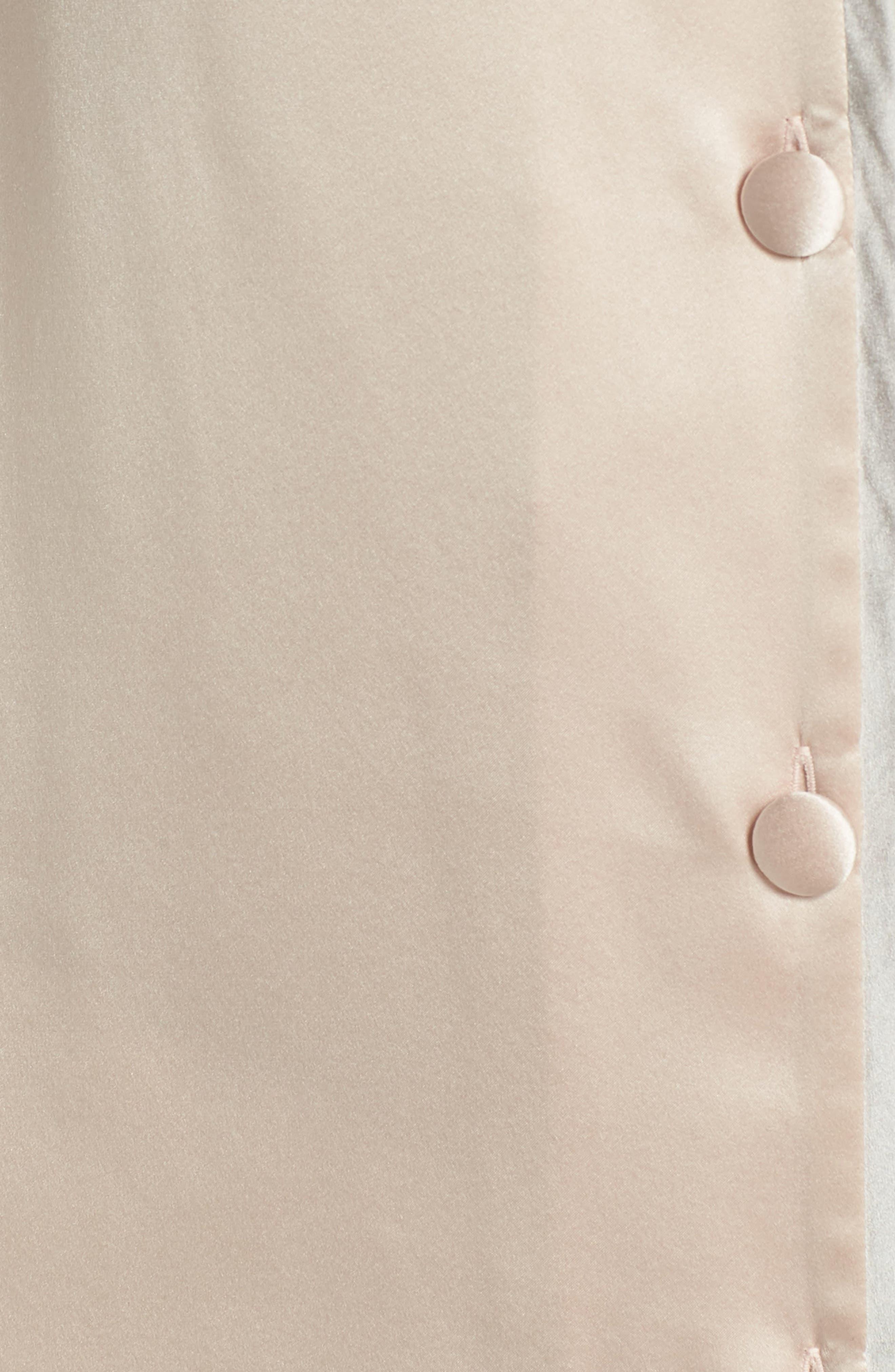 Coco Silk Pajamas,                             Alternate thumbnail 6, color,                             Rose Quartz / Antique Silver