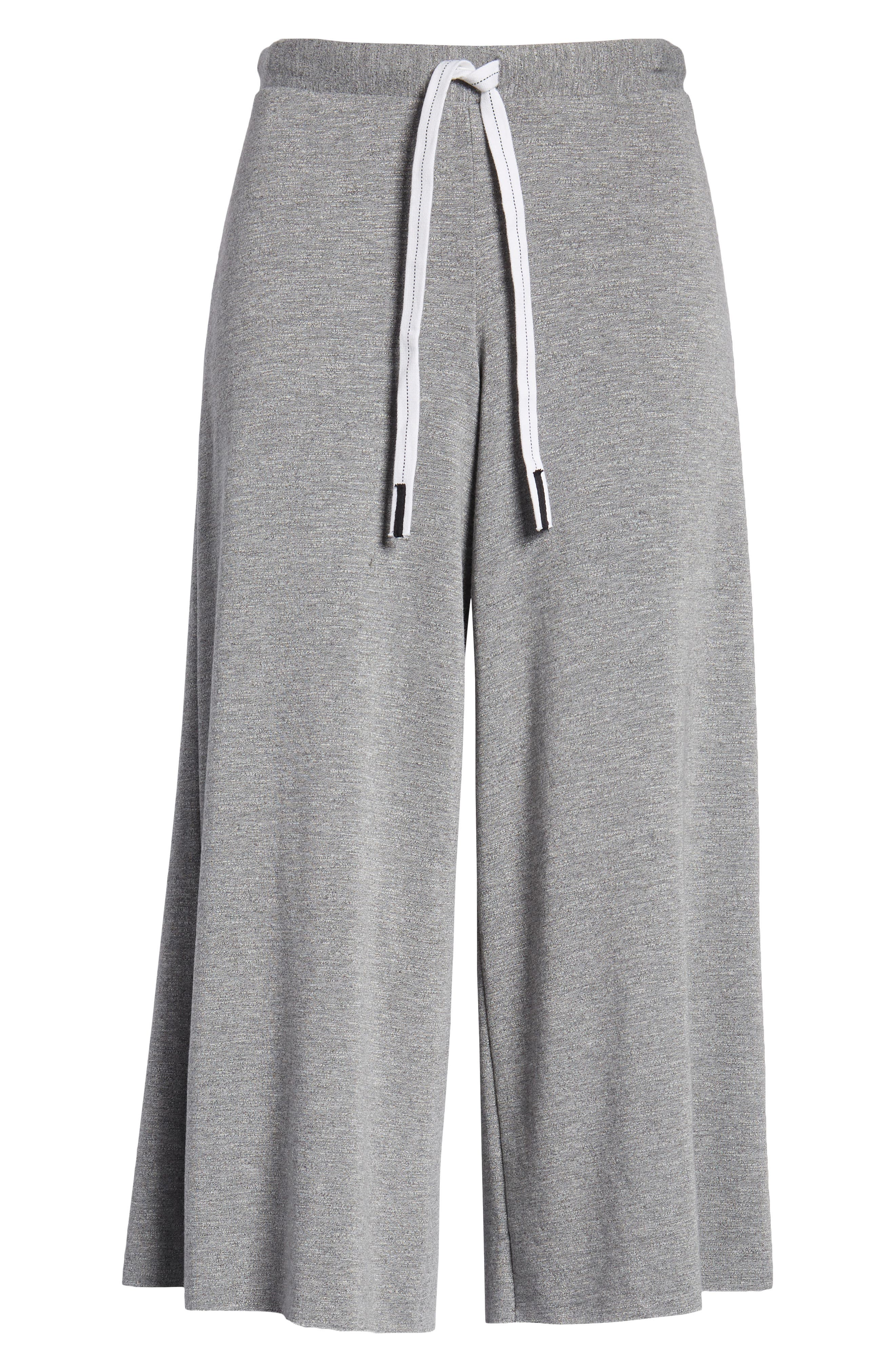 Flare Fleece Pants,                             Alternate thumbnail 7, color,                             Heather Grey