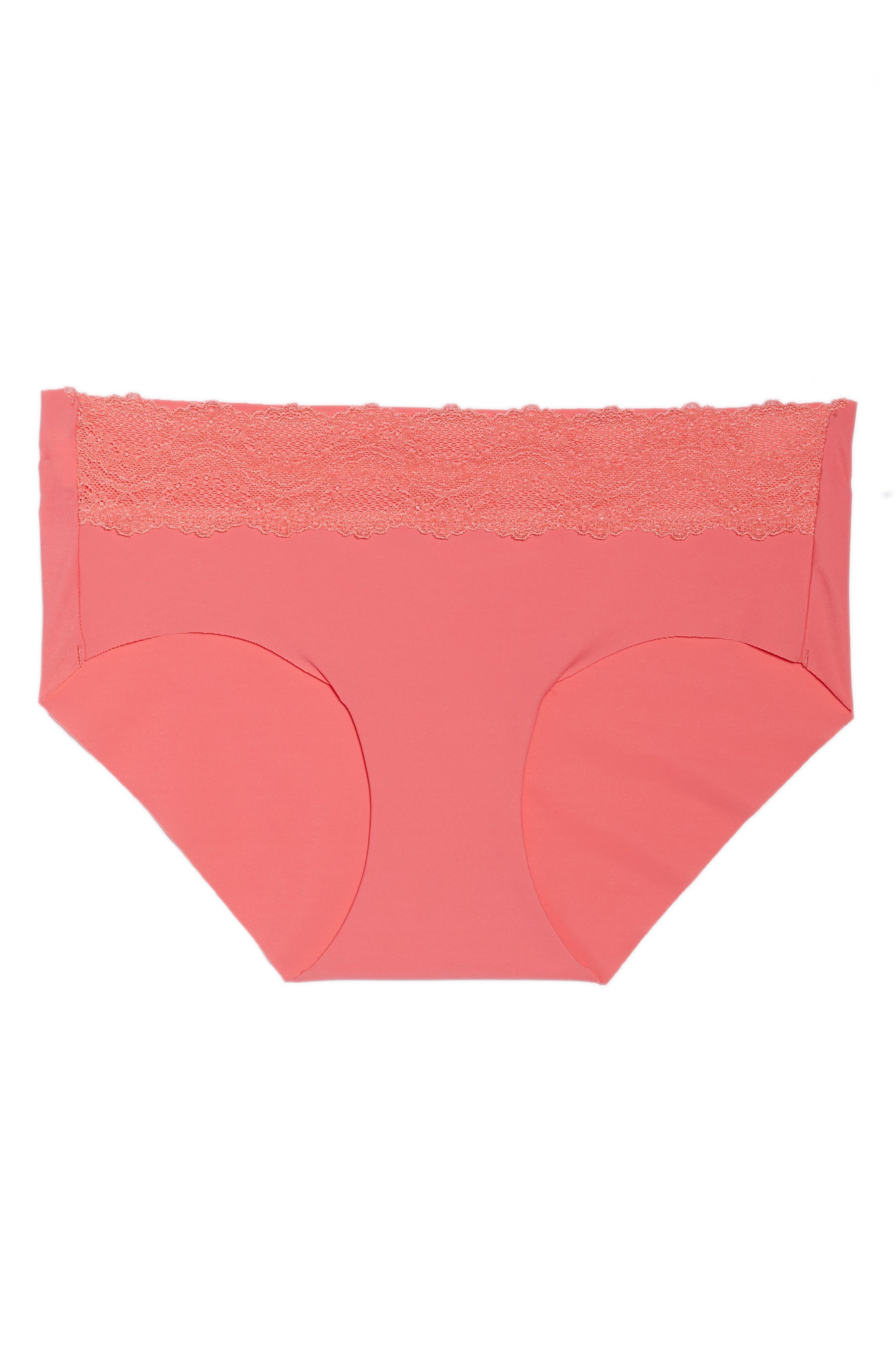 b.bare Hipster Panties,                             Alternate thumbnail 4, color,                             Calypso Coral