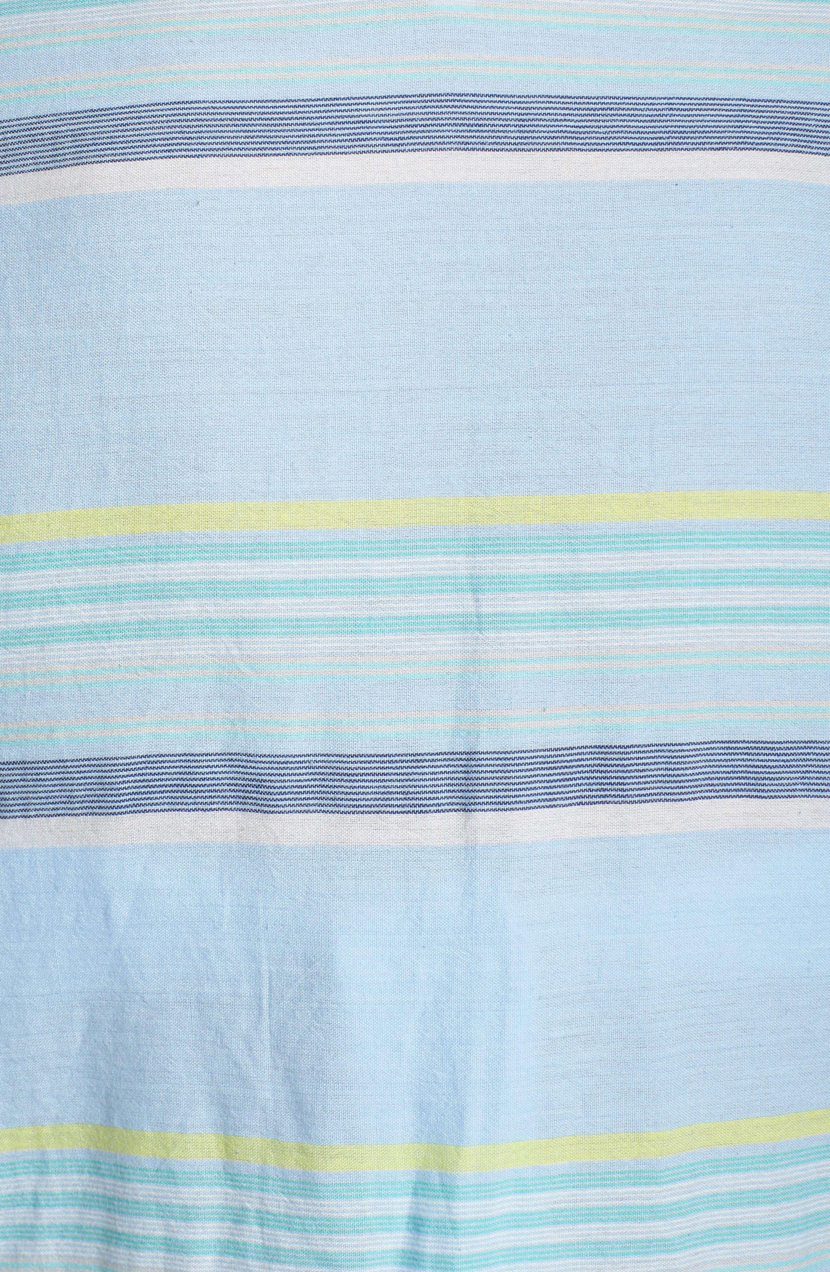 Sunset Stripe Cover-Up,                             Alternate thumbnail 5, color,                             Sky Blue