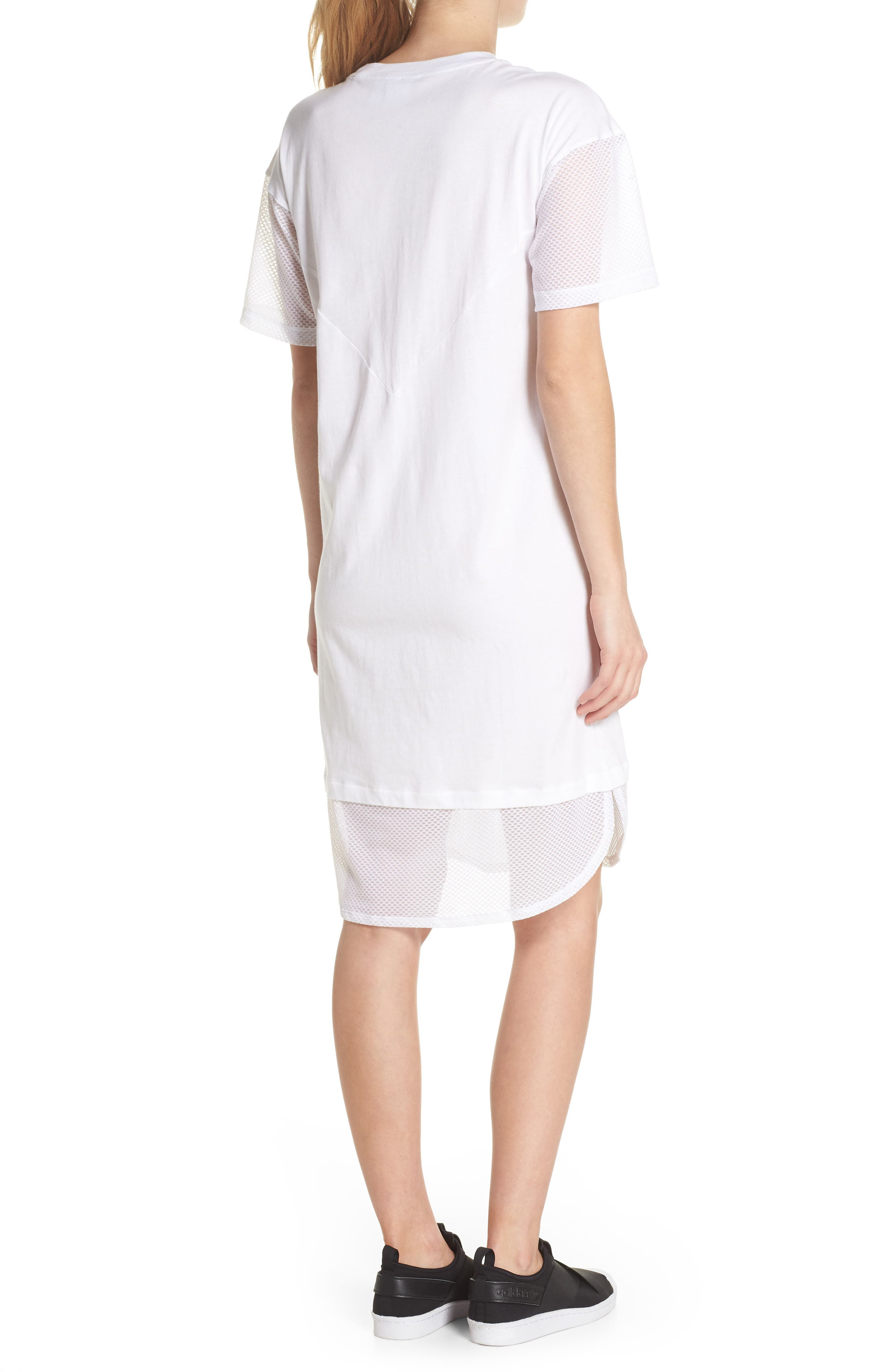 CLRDO T-Shirt Dress,                             Alternate thumbnail 2, color,                             White