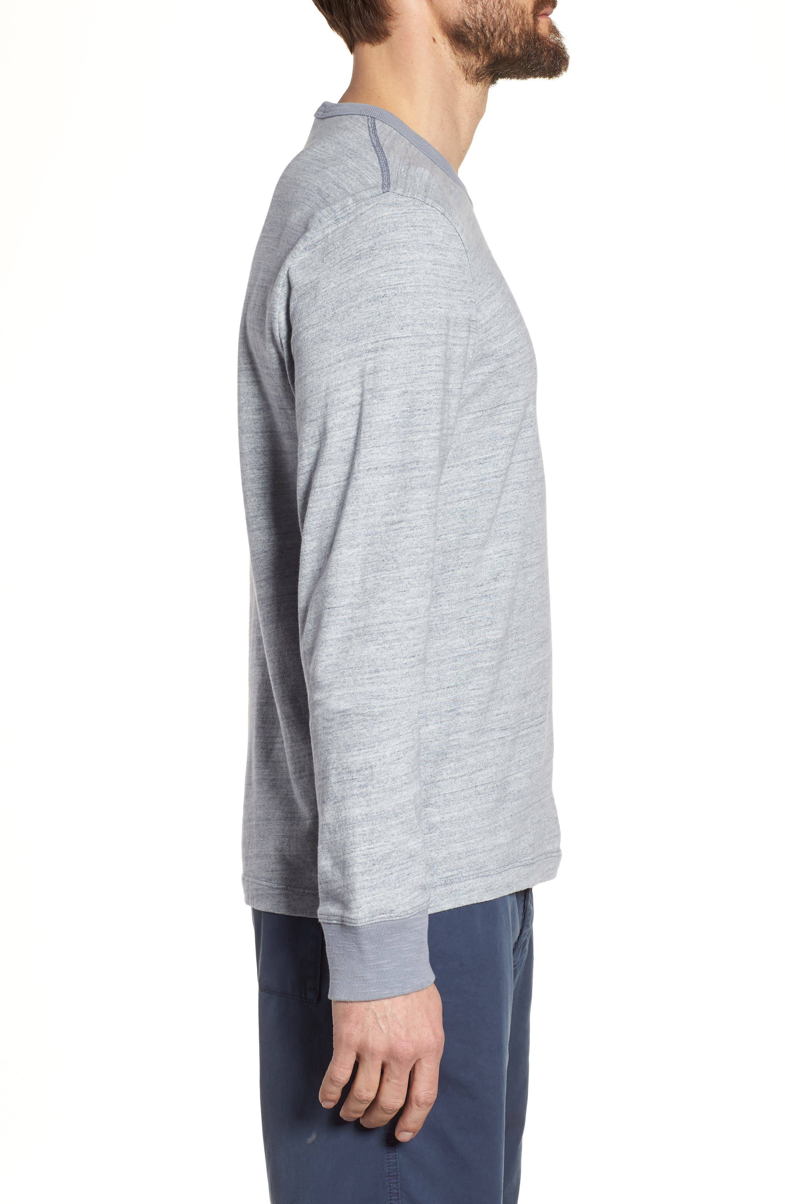 Regular Fit Top Dyed Crewneck T-Shirt,                             Alternate thumbnail 3, color,                             Grey