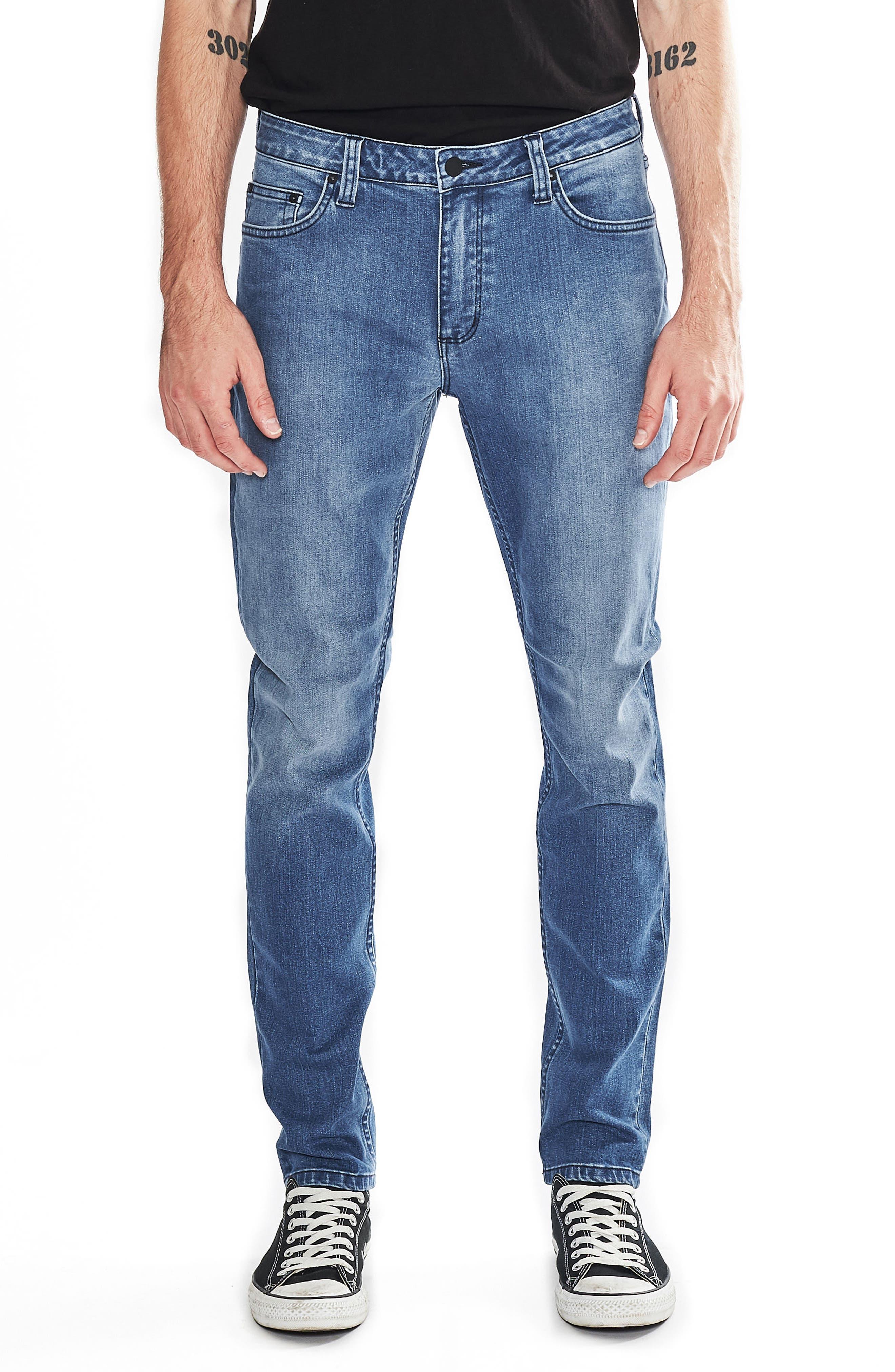 Tim Slims Slim Fit Jeans,                             Main thumbnail 1, color,                             Safety Beach Blue