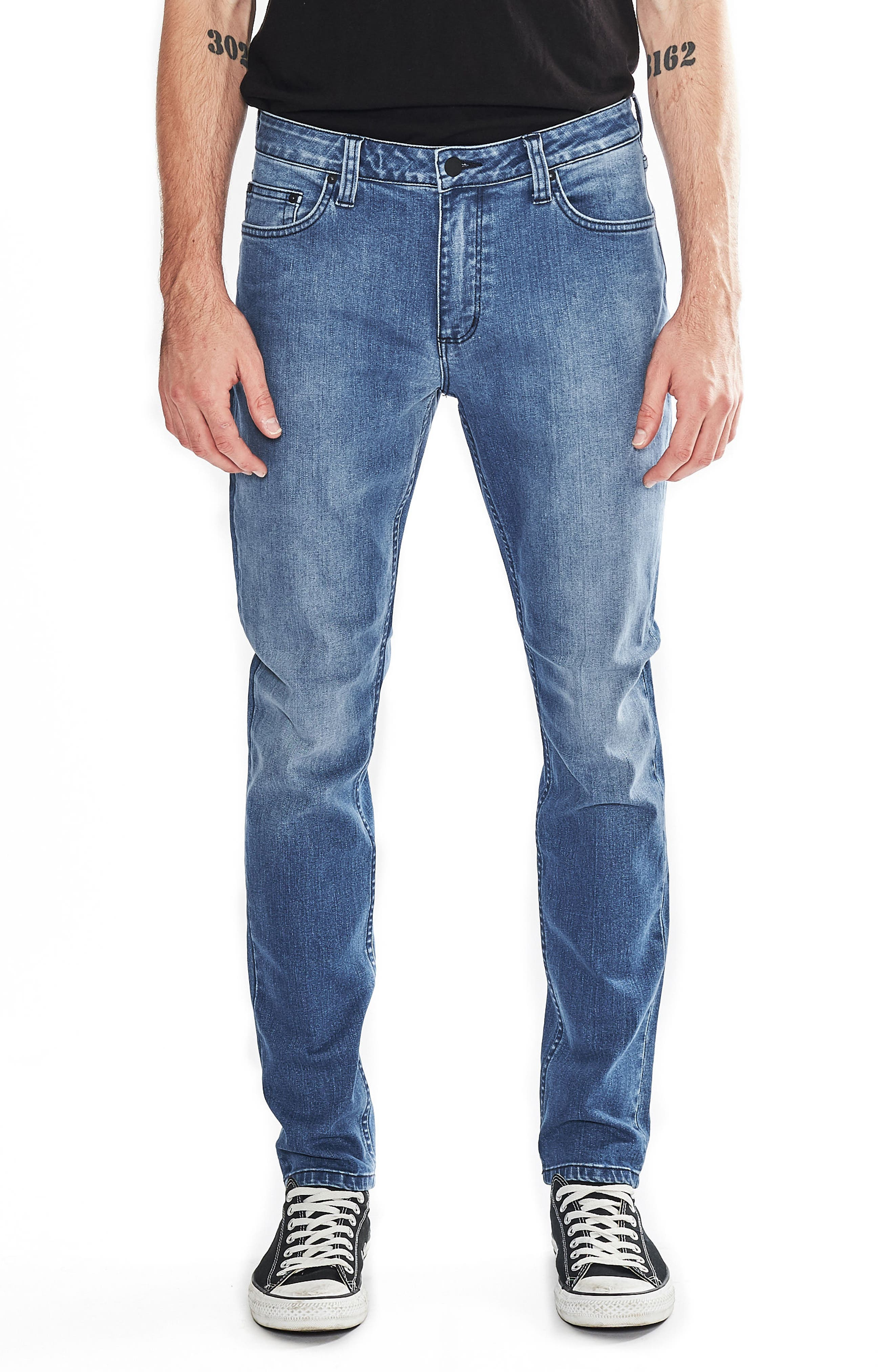 ROLLA'S Tim Slims Slim Fit Jeans (Safety Beach Blue)