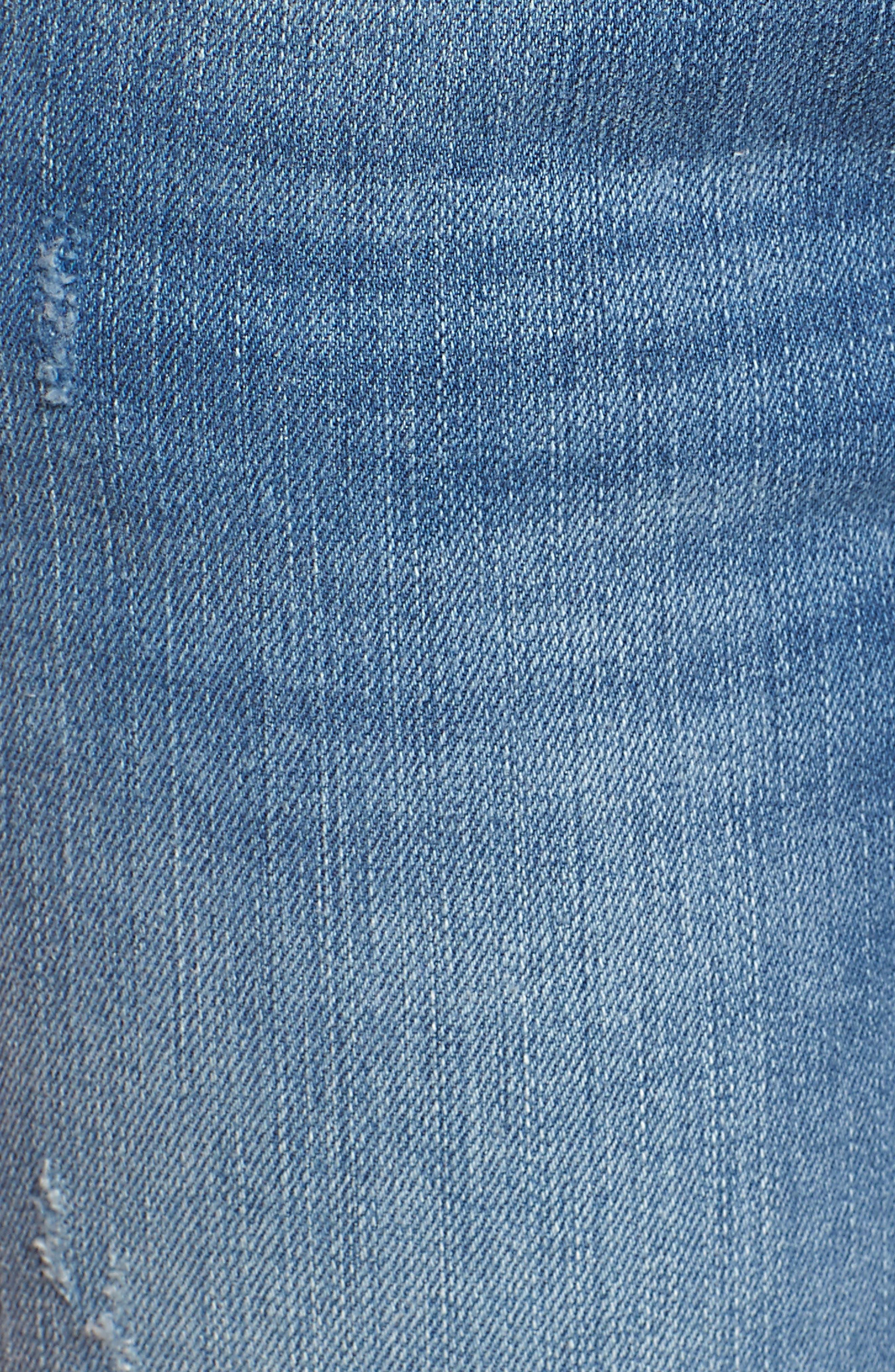 Kerry Fringe Hem Ankle Jeans,                             Alternate thumbnail 6, color,                             Distressed Vintage
