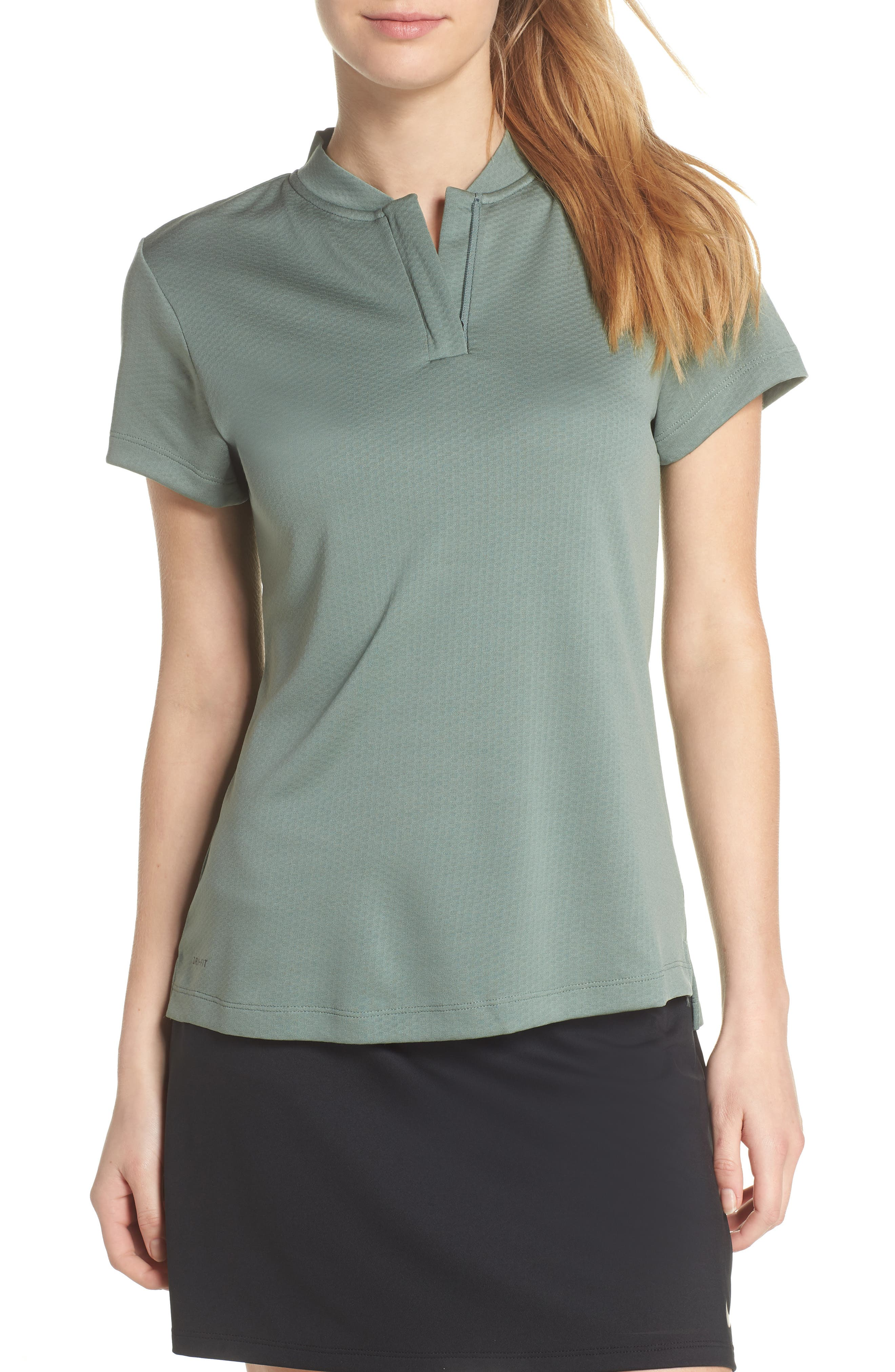 Dry Gold Polo,                         Main,                         color, Clay Green/ Black