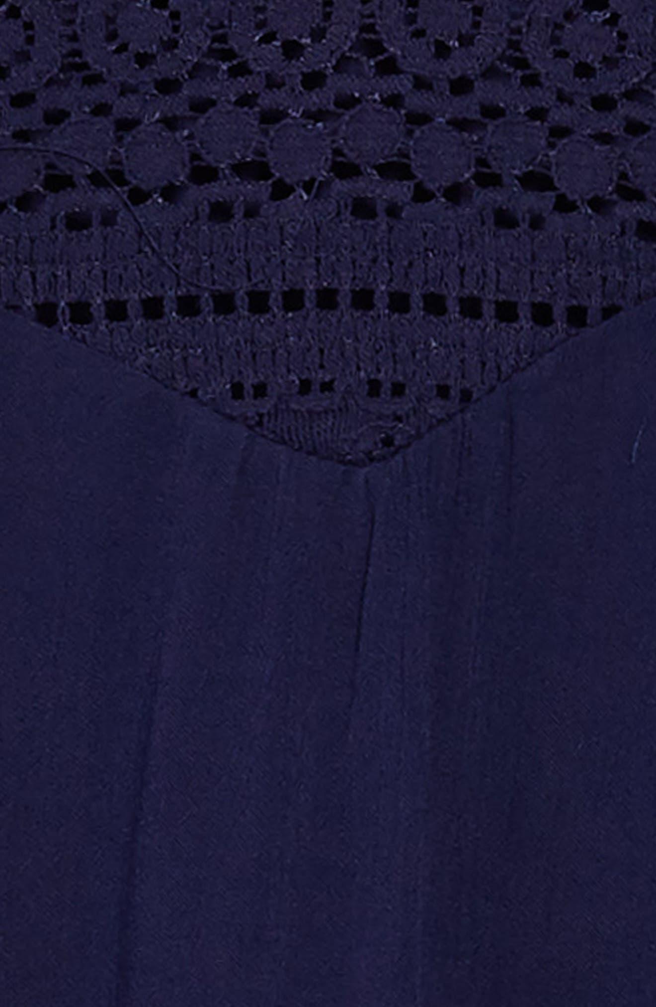 Cold Shoulder Shift Dress,                             Alternate thumbnail 3, color,                             Navy