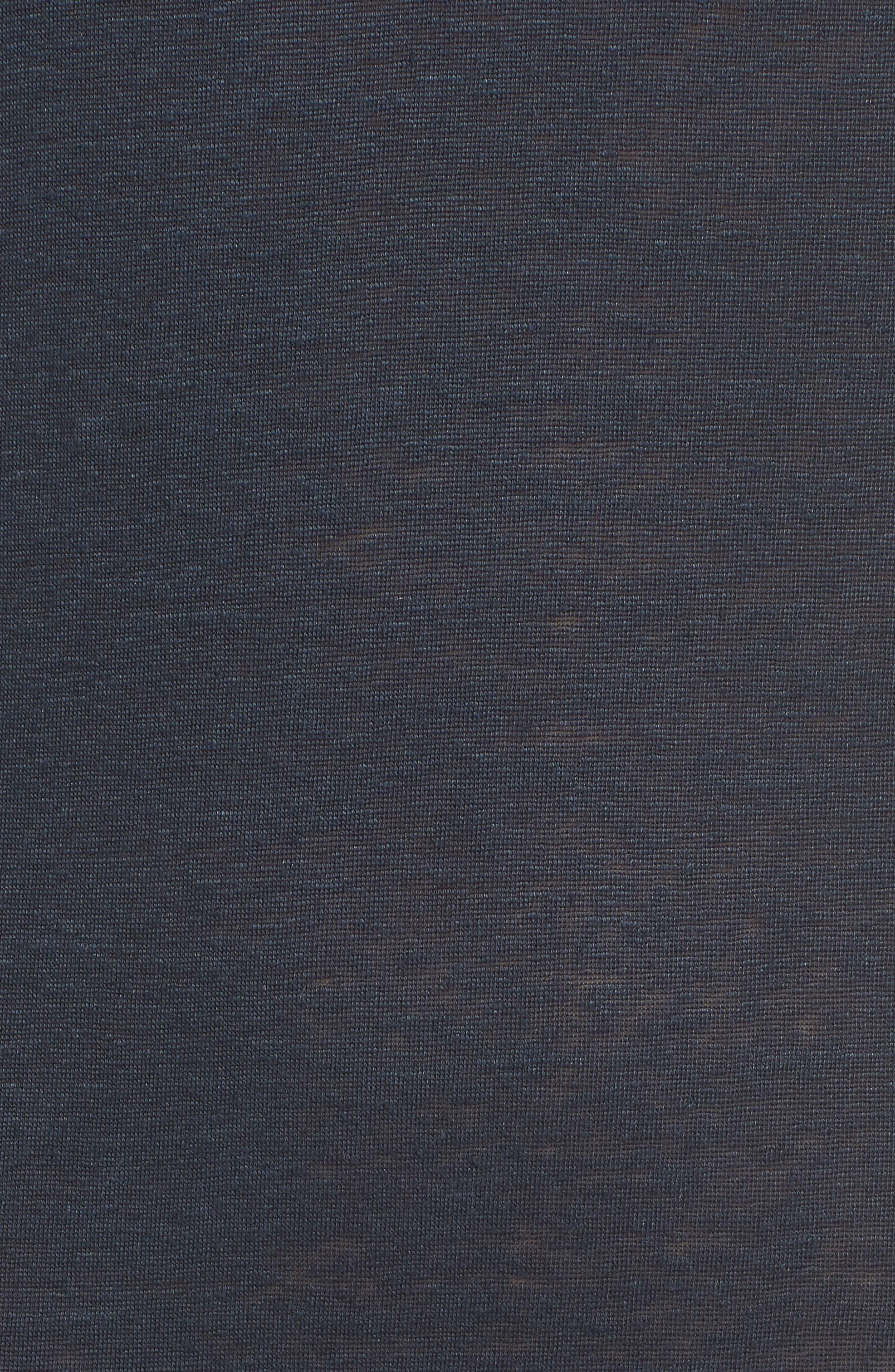 Lace-up Shoulder Jersey Midi Dress,                             Alternate thumbnail 6, color,                             Navy
