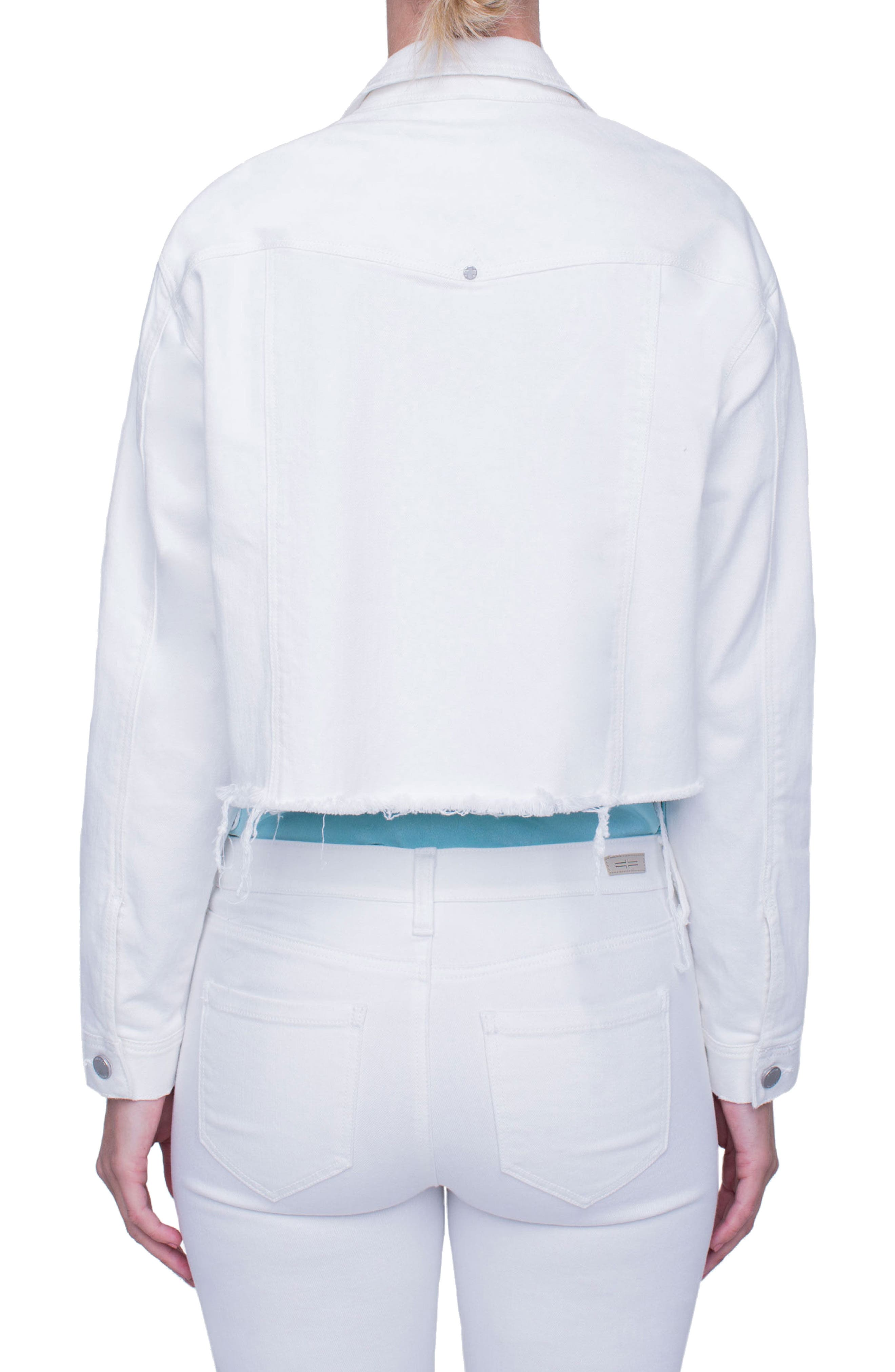 Alternate Image 3  - Liverpool Jeans Company Raw Edge Denim Jacket (Magnolia Destruct)