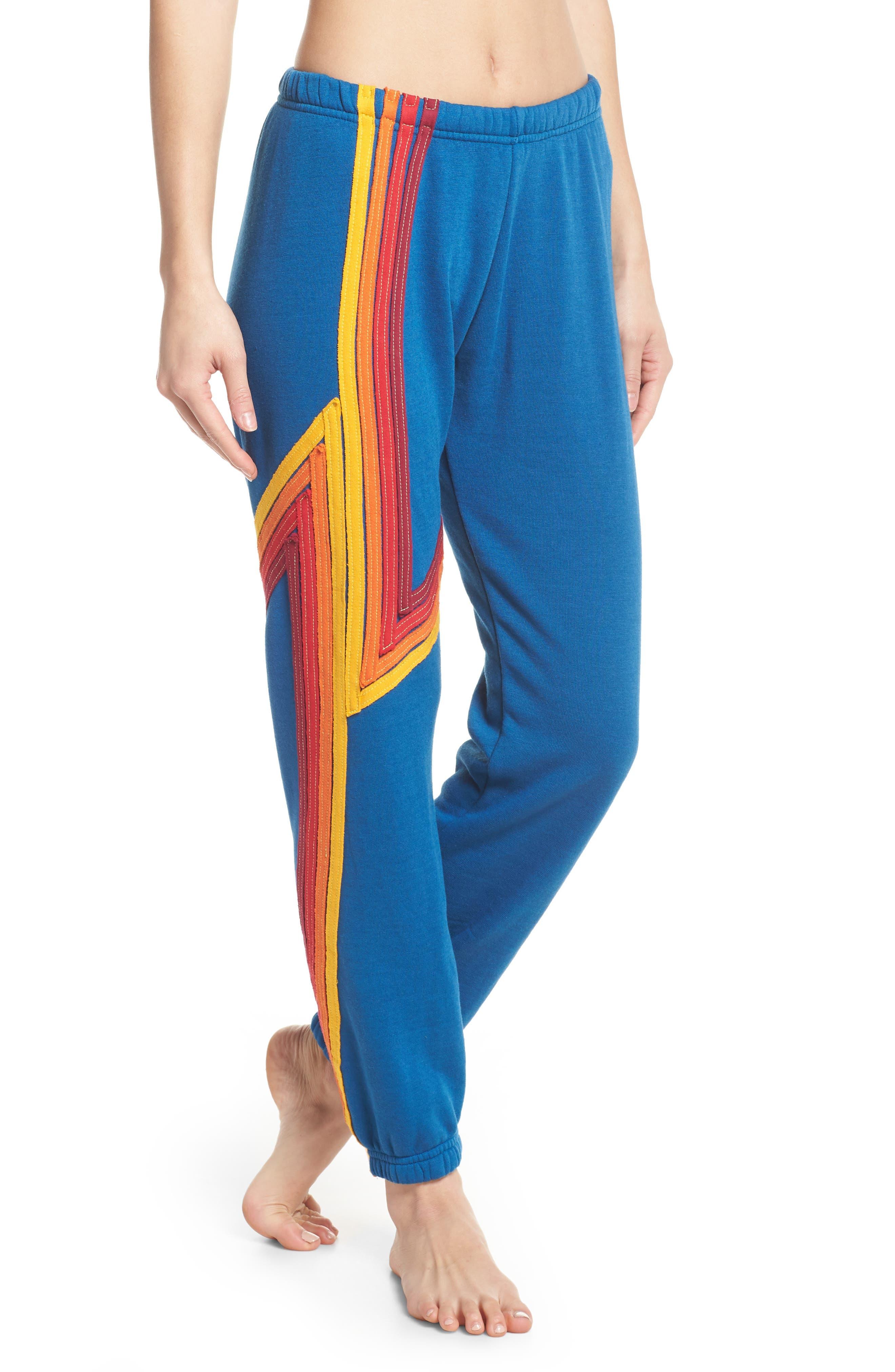 Blaze 4 Sweatpants,                         Main,                         color, Caribbean/ Red Stripe