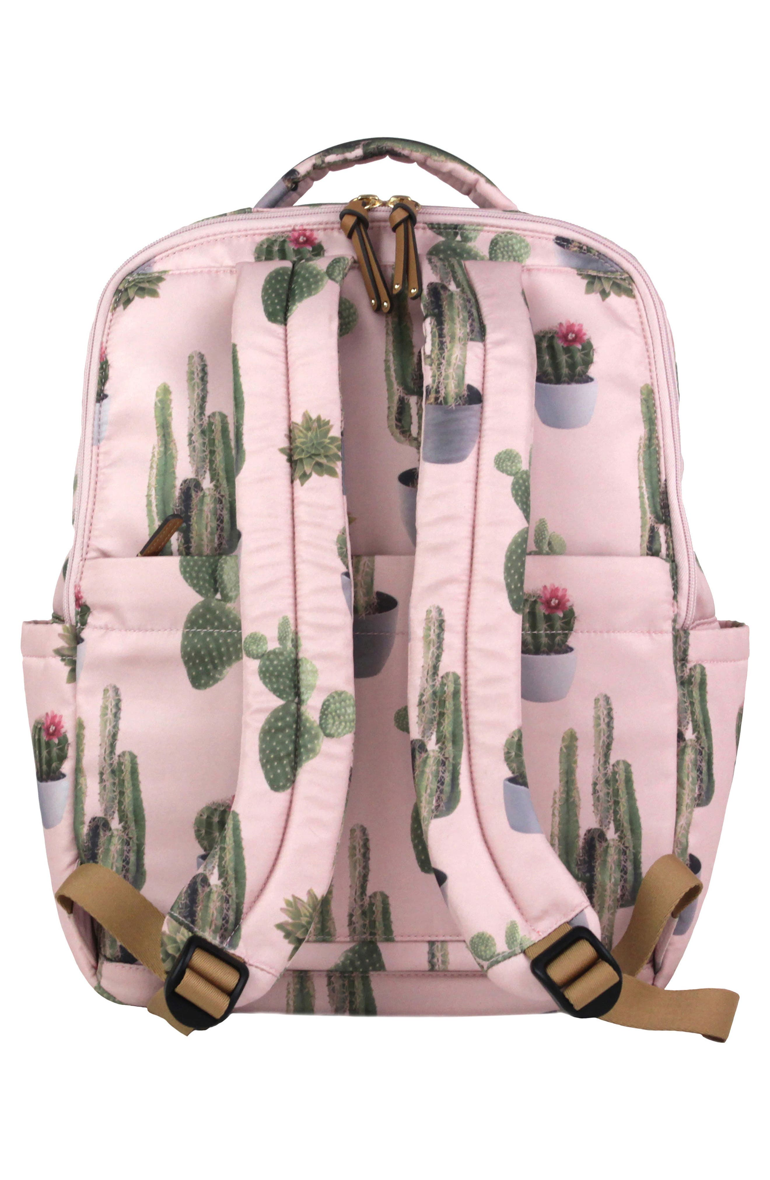 On-the-Go Water Resistant Diaper Backpack,                             Alternate thumbnail 2, color,                             Cactus