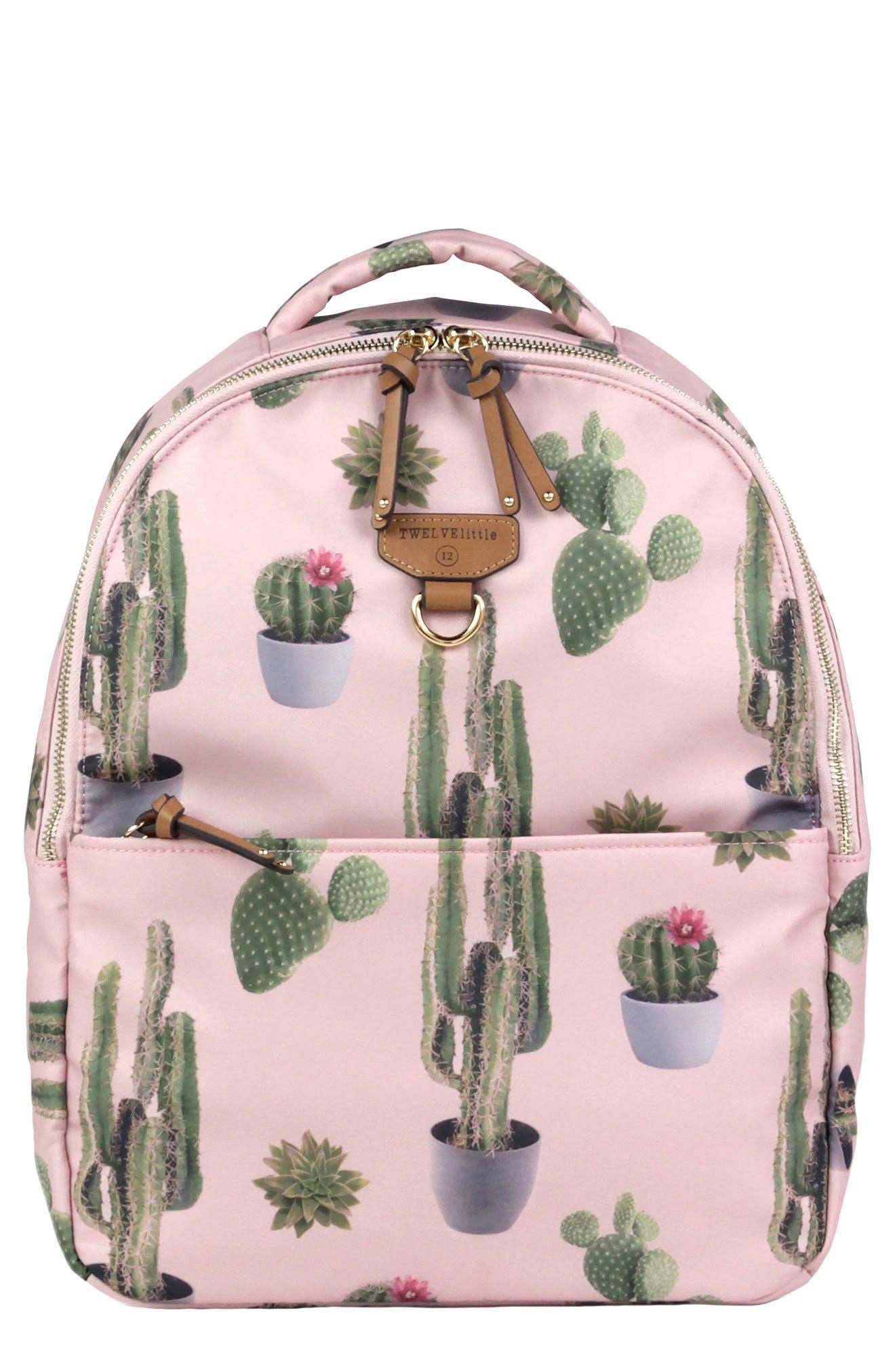 Mini-Go Water Resistant Diaper Backpack,                             Main thumbnail 1, color,                             Cactus