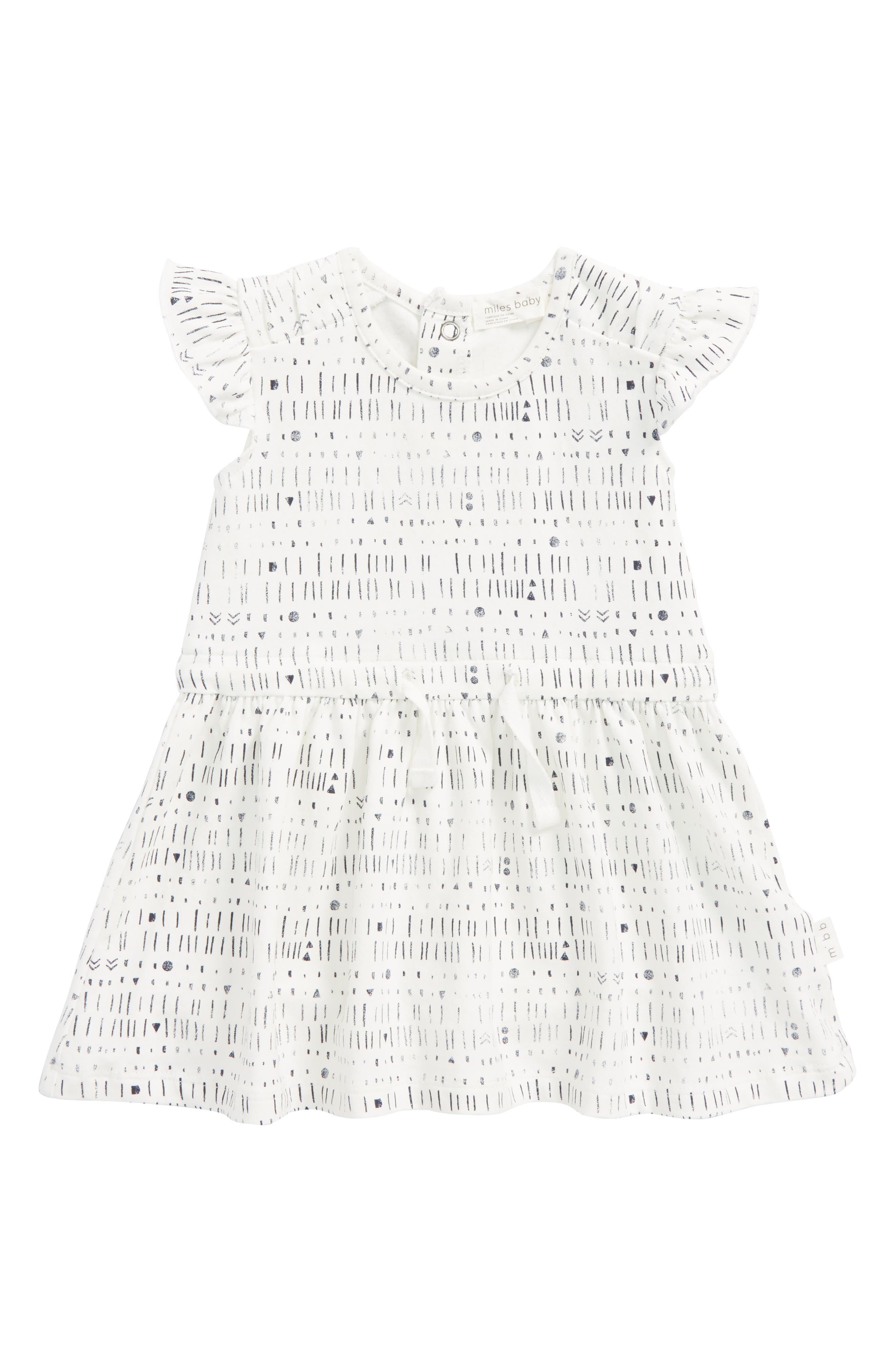 Main Image - Miles Baby Flutter Sleeve Dress (Baby Girls)