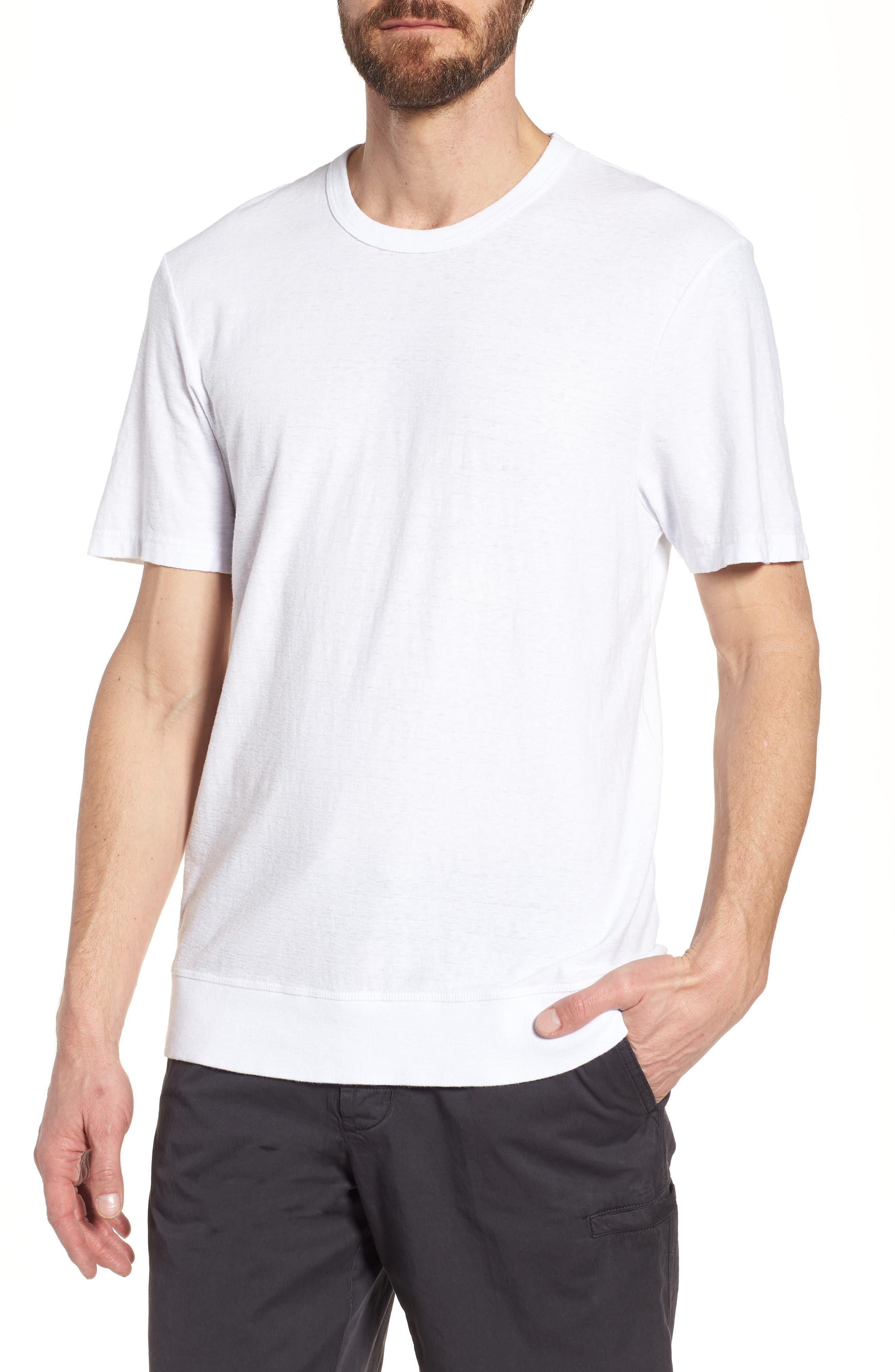 Regular Fit Slub Crewneck T-Shirt,                         Main,                         color, White
