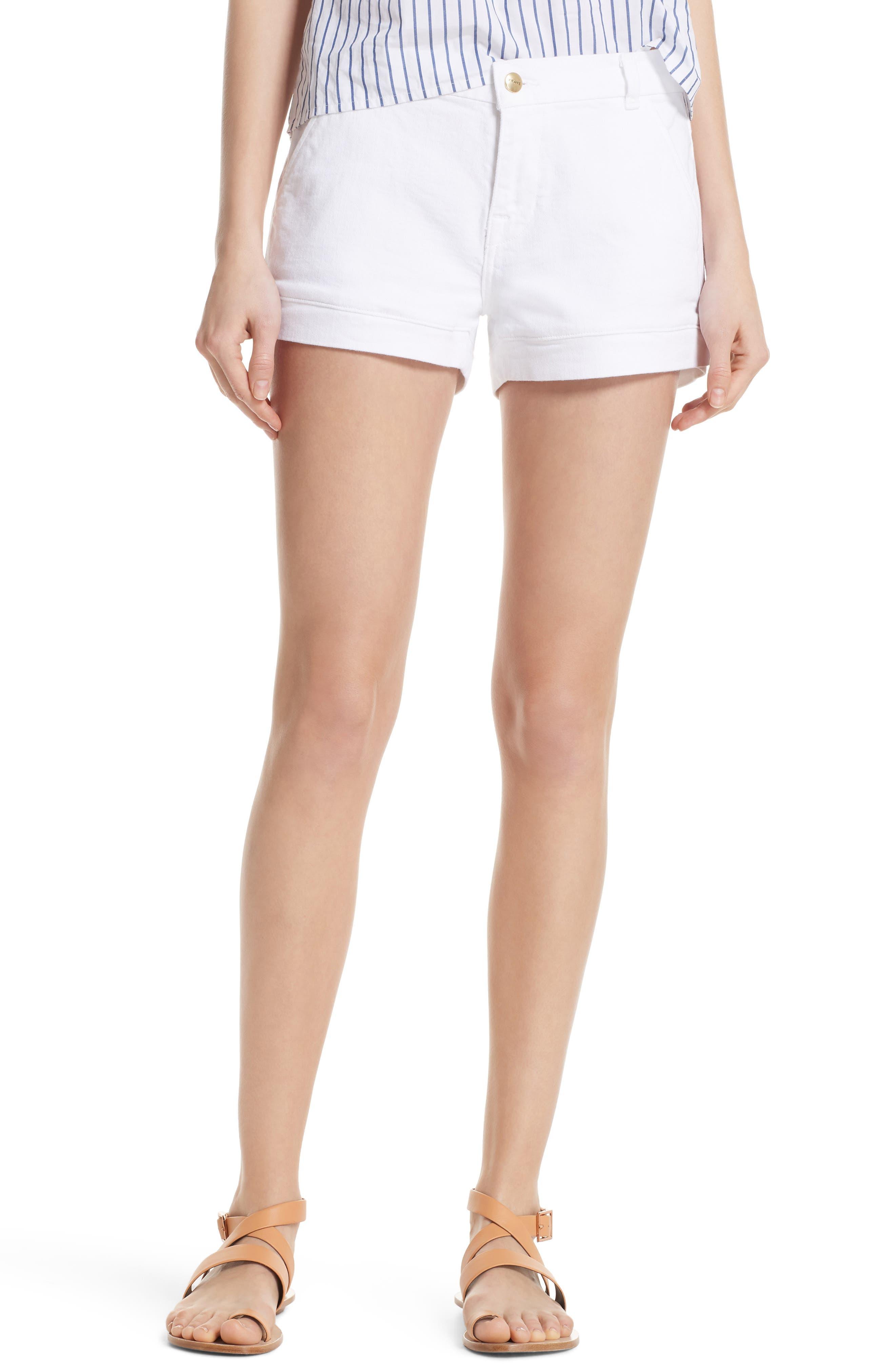 FRAME Mitered Denim Shorts (Blanc) (Nordstrom Exclusive)