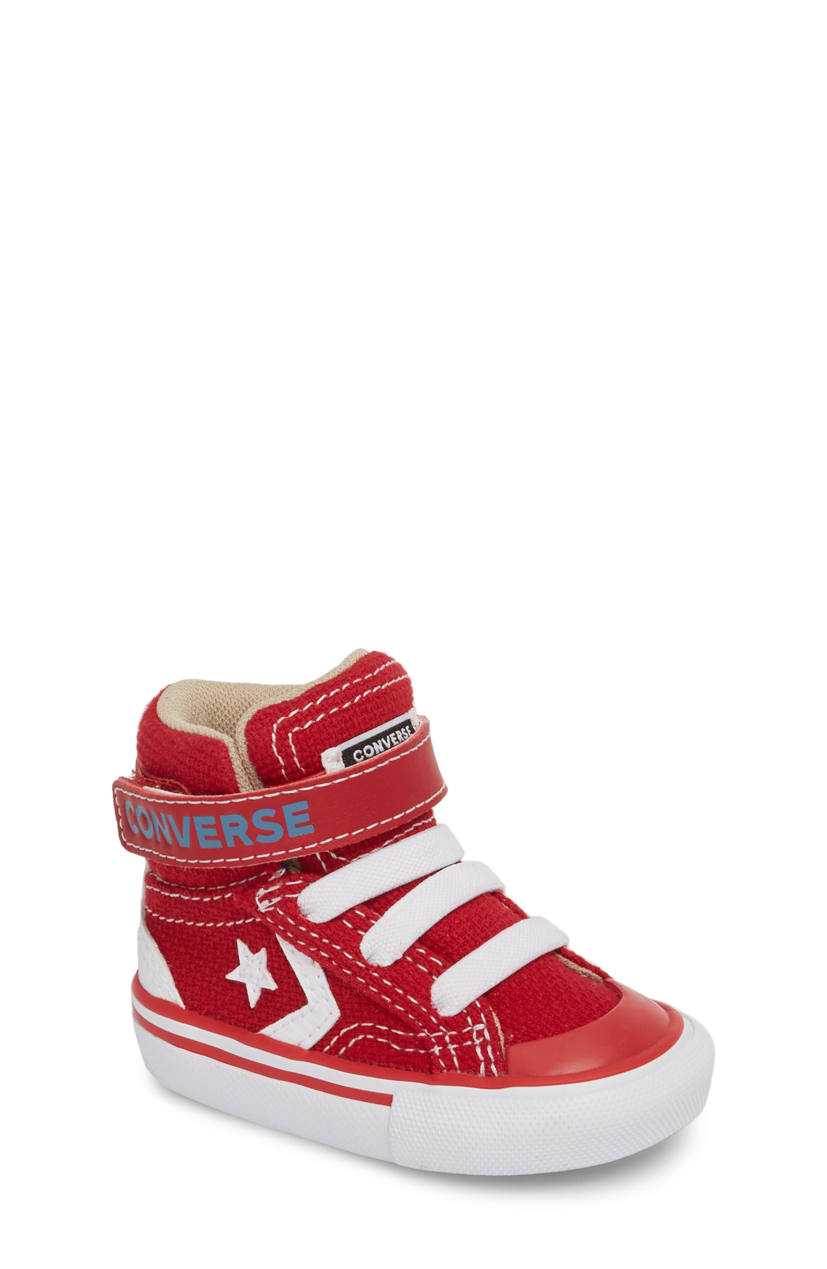 Pro Blaze High Top Sneaker,                             Main thumbnail 1, color,                             Gym Red