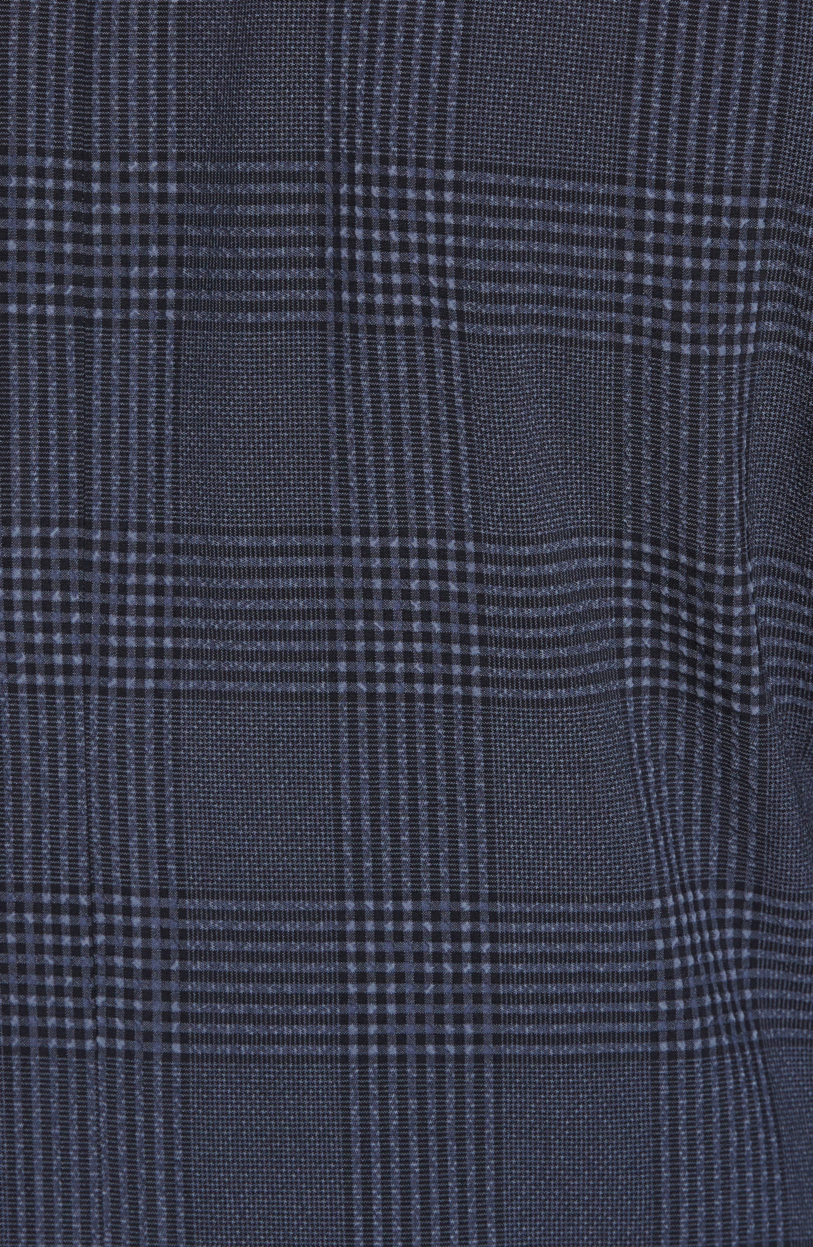 Trim Fit Plaid Wool Blend Sport Coat,                             Alternate thumbnail 5, color,                             Navy