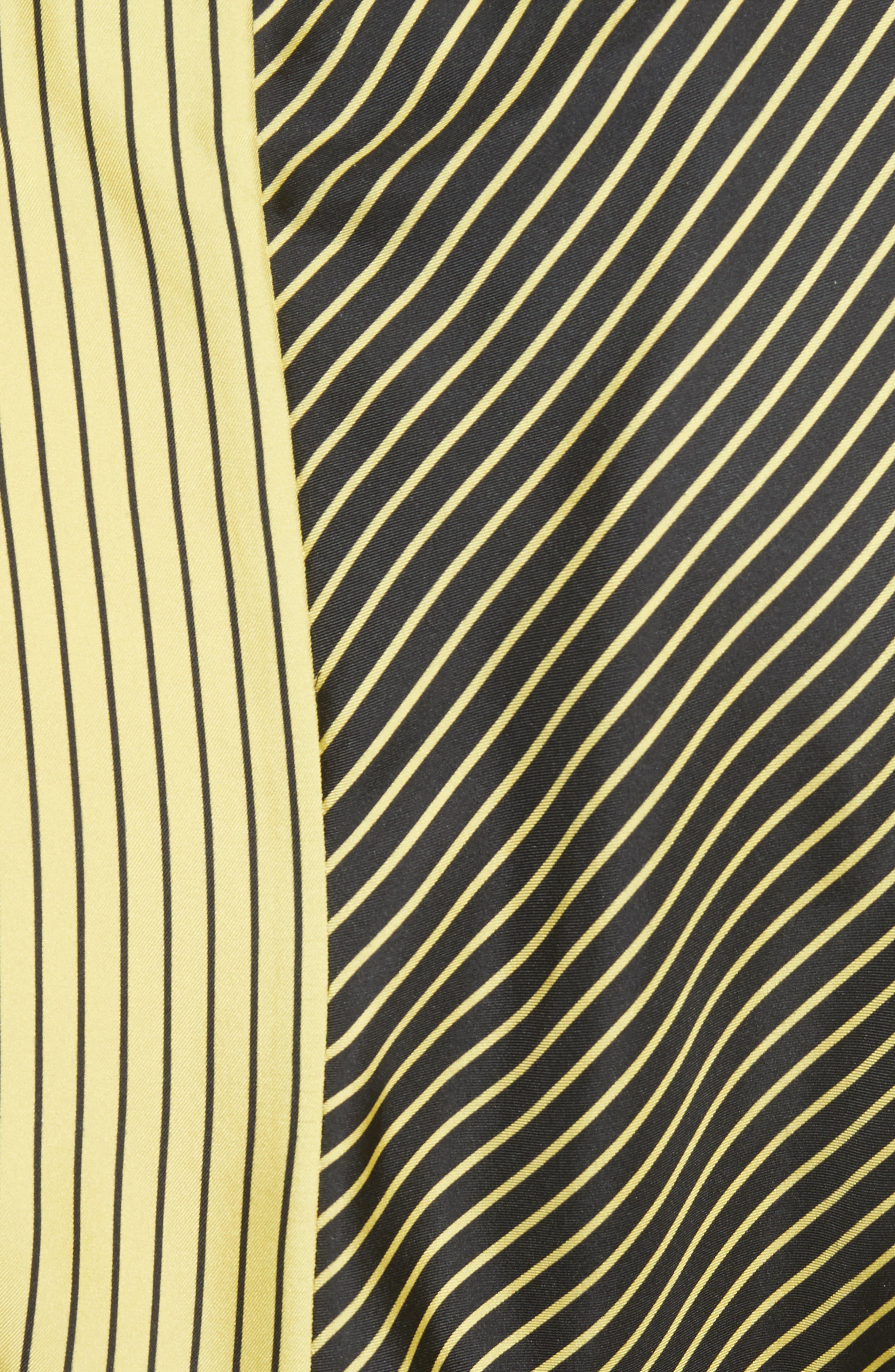 Colorblock Stripe Dress,                             Alternate thumbnail 6, color,                             Black/ Yellow