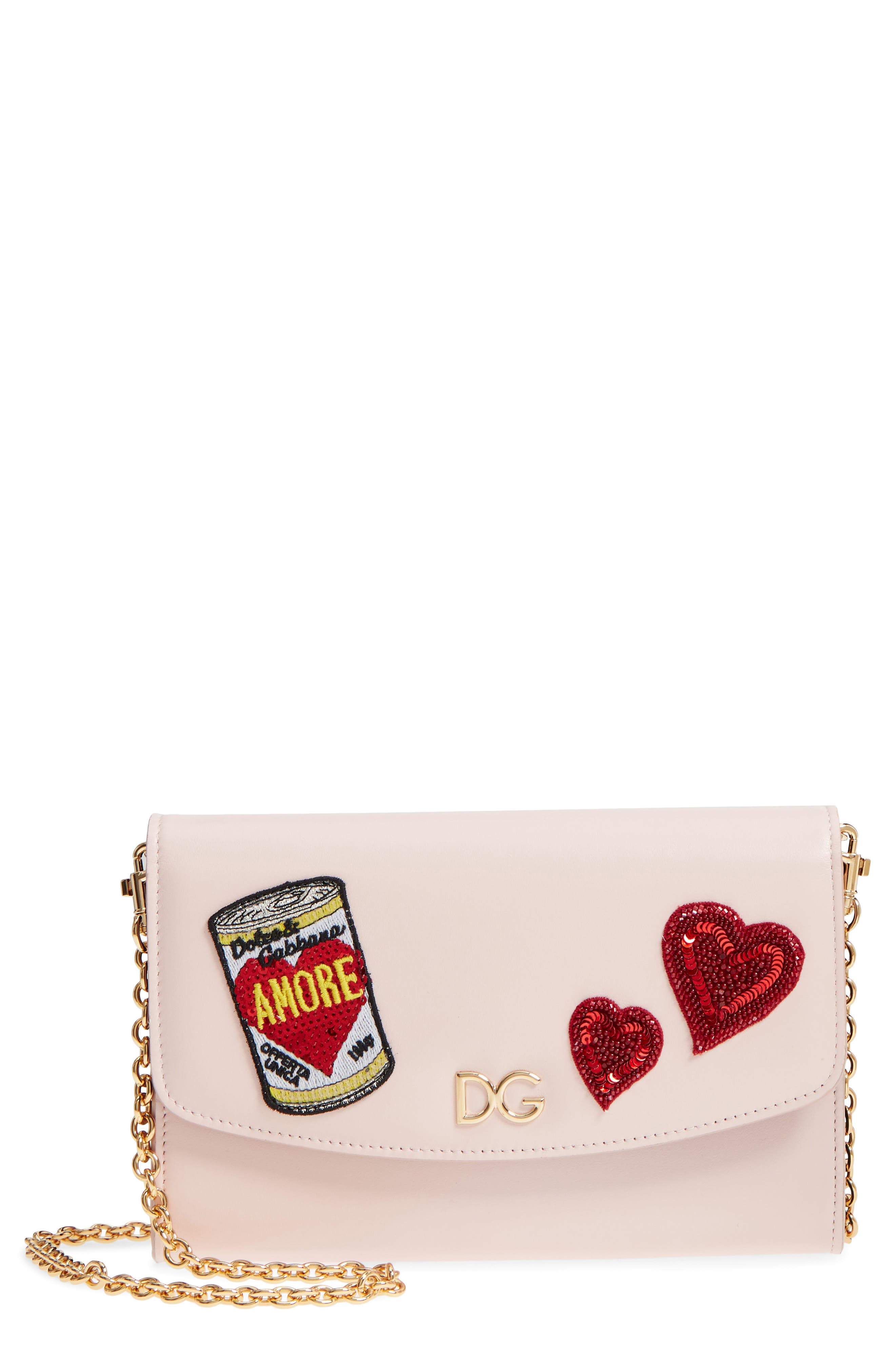 Dolce&Gabbana Soup Can Leather Wallet on a Chain