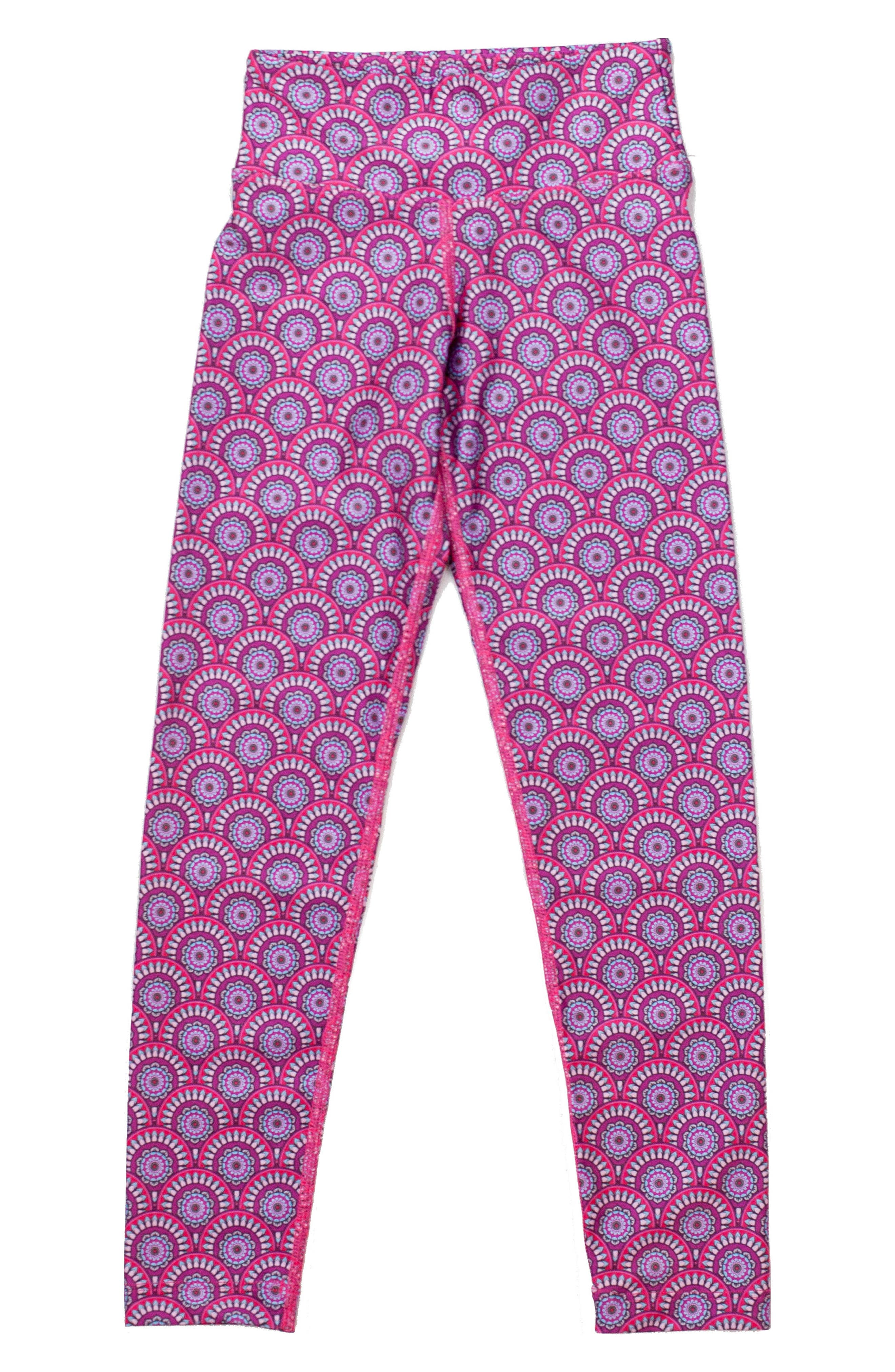 Mandala Leggings,                             Alternate thumbnail 5, color,                             Pink Mandala