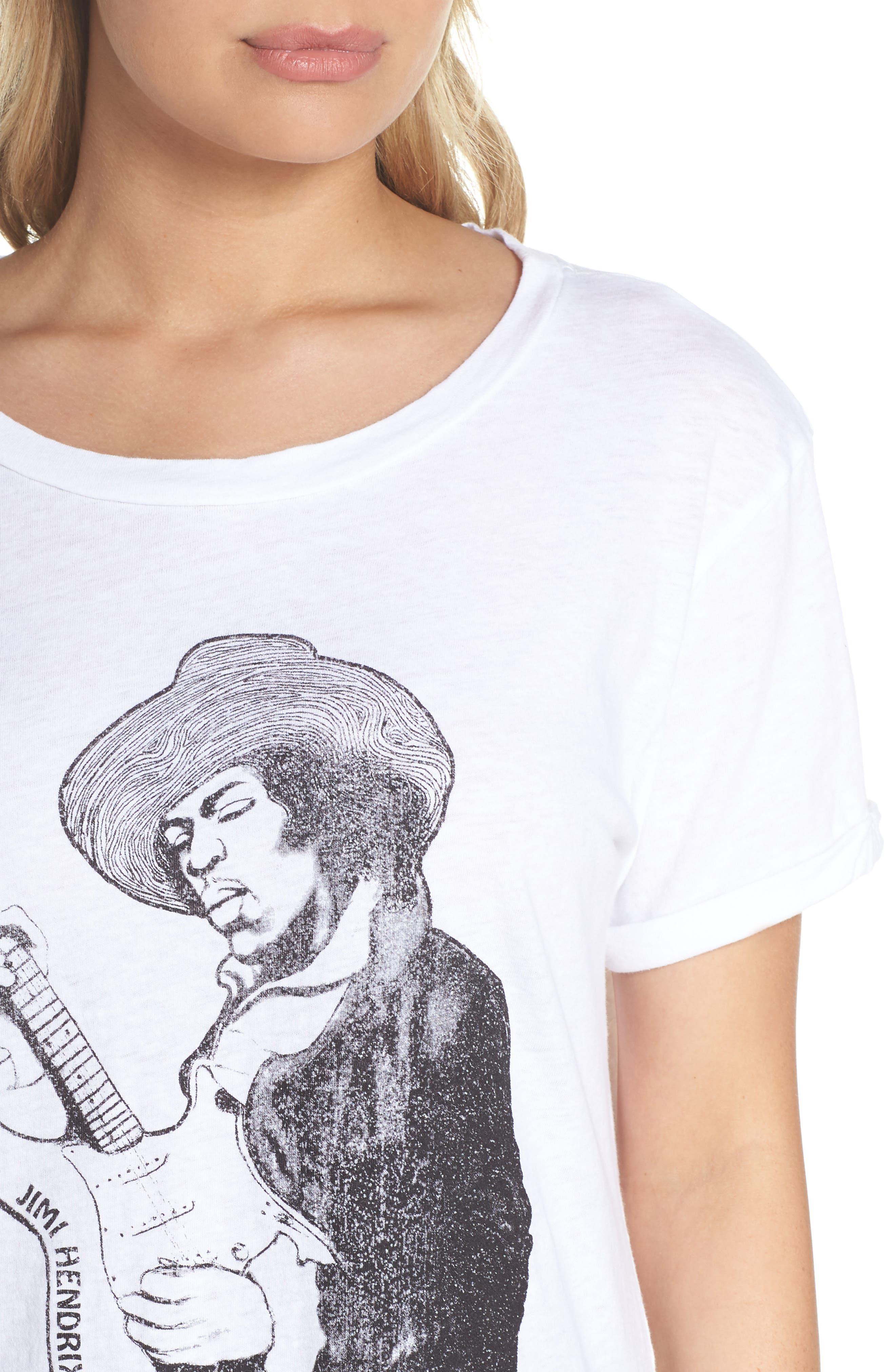 Jimi Hendrix Tee,                             Alternate thumbnail 5, color,                             White
