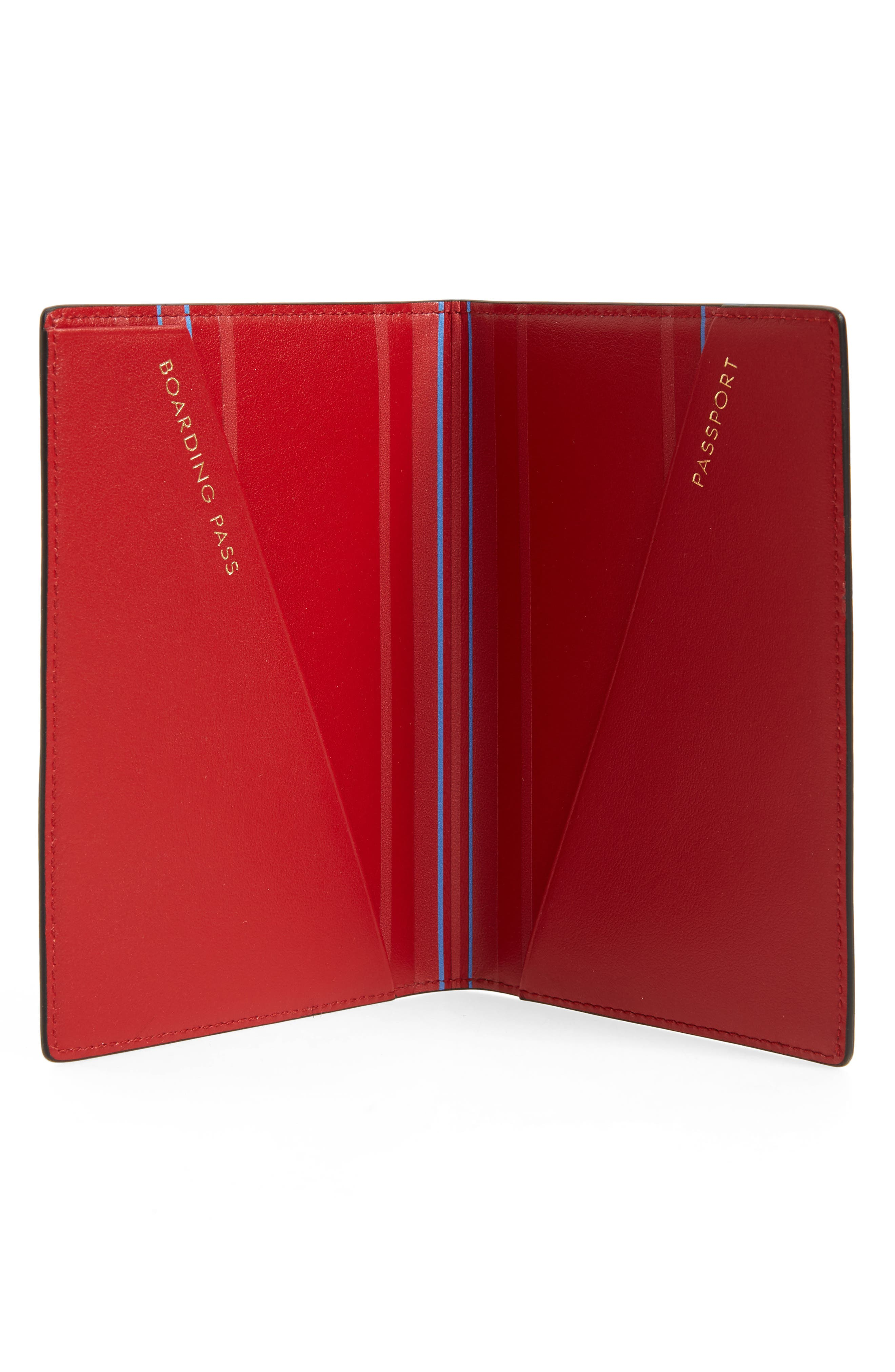 Hero Leather Passport Cover,                             Alternate thumbnail 2, color,                             Red