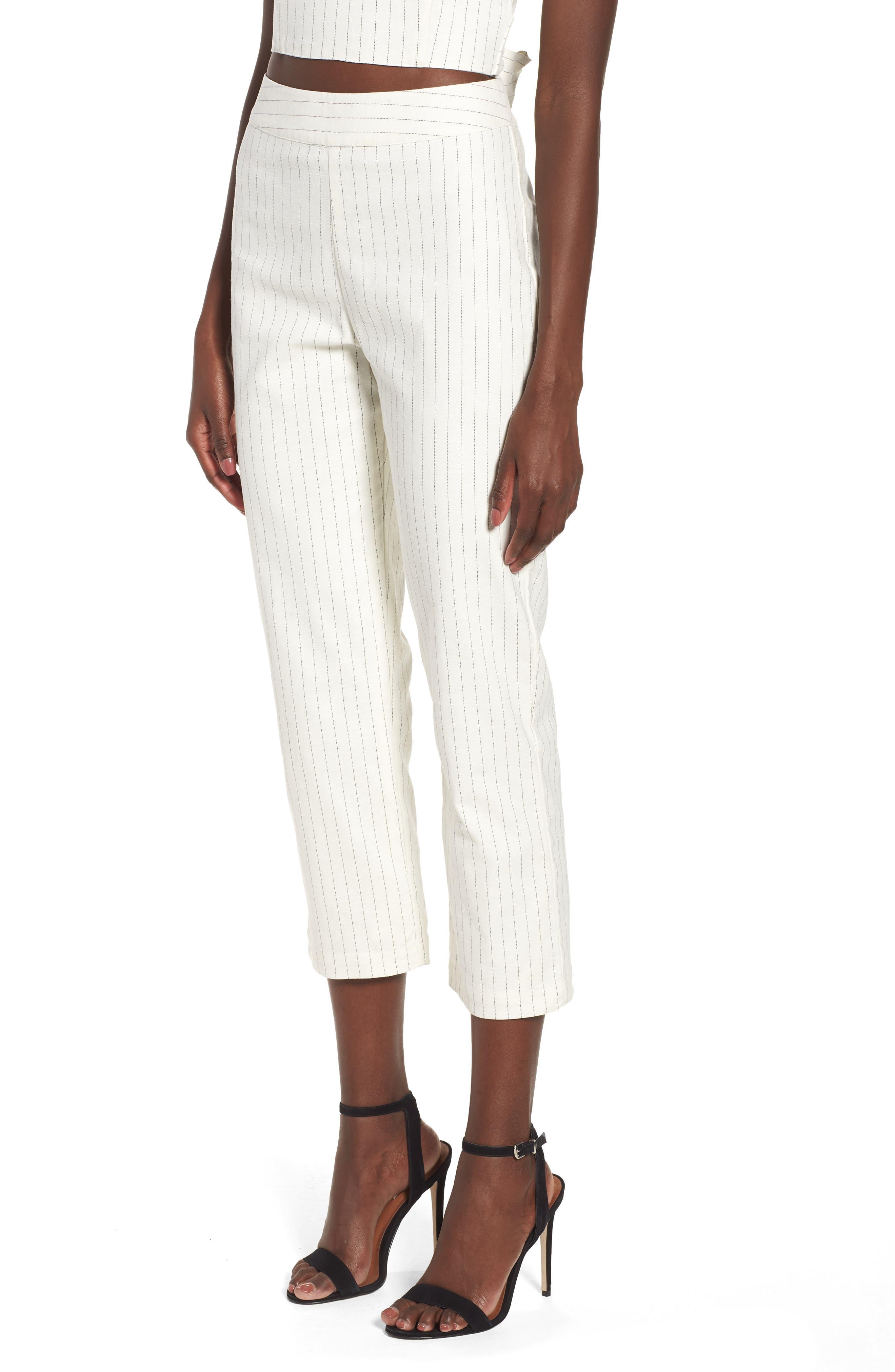 4SI3NNA High Waist Linen Pant