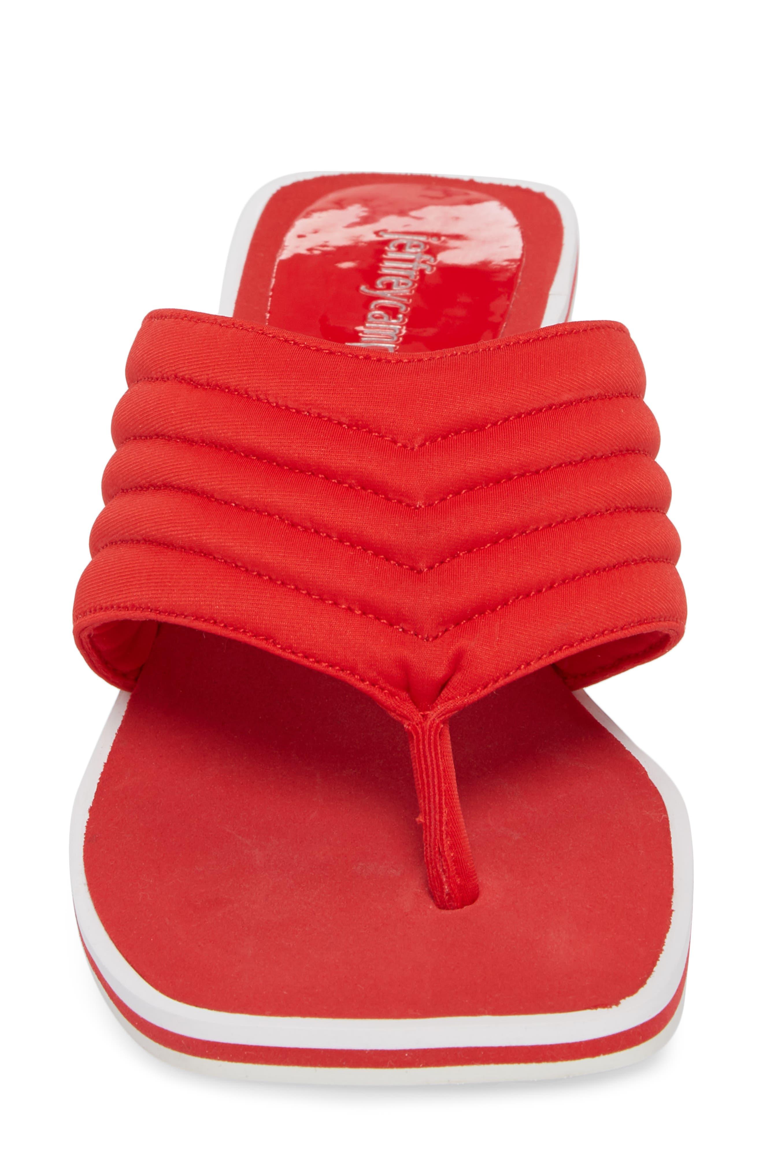 Overtime Sandal,                             Alternate thumbnail 4, color,                             Red Neorprene