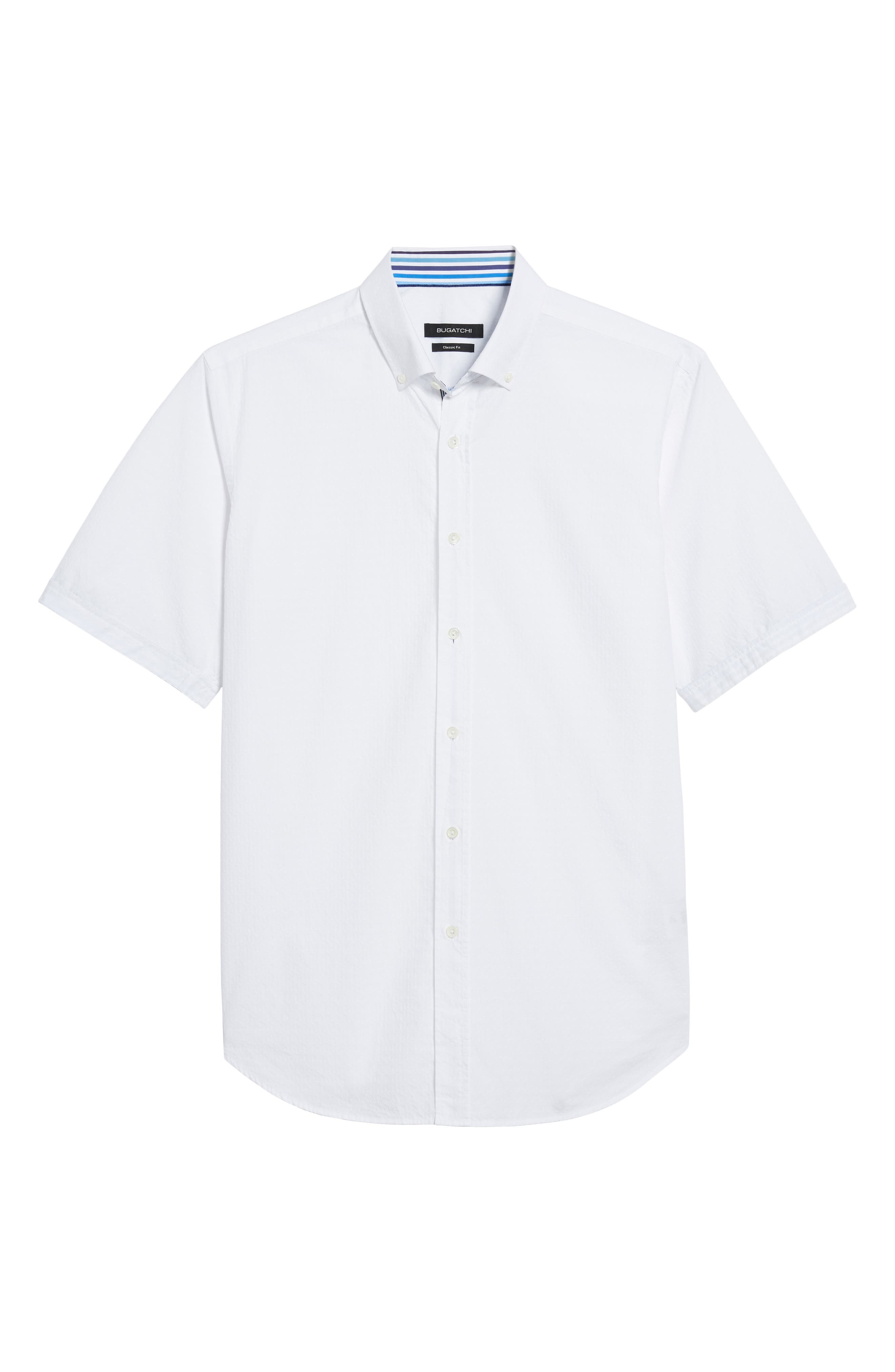 Classic Fit Textured Sport Shirt,                             Alternate thumbnail 6, color,                             White