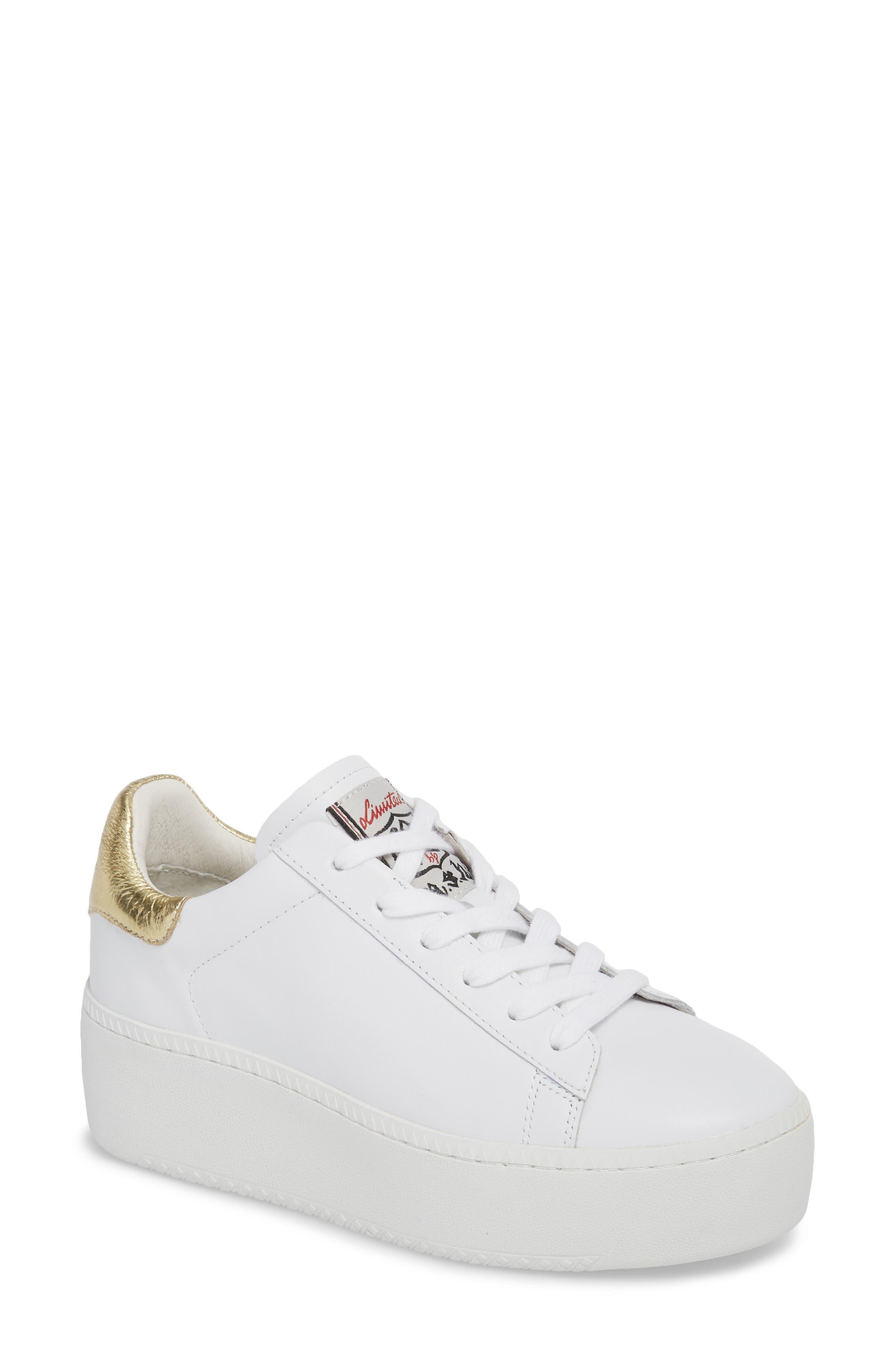 Cult Platform Sneaker,                         Main,                         color, White/ Ariel