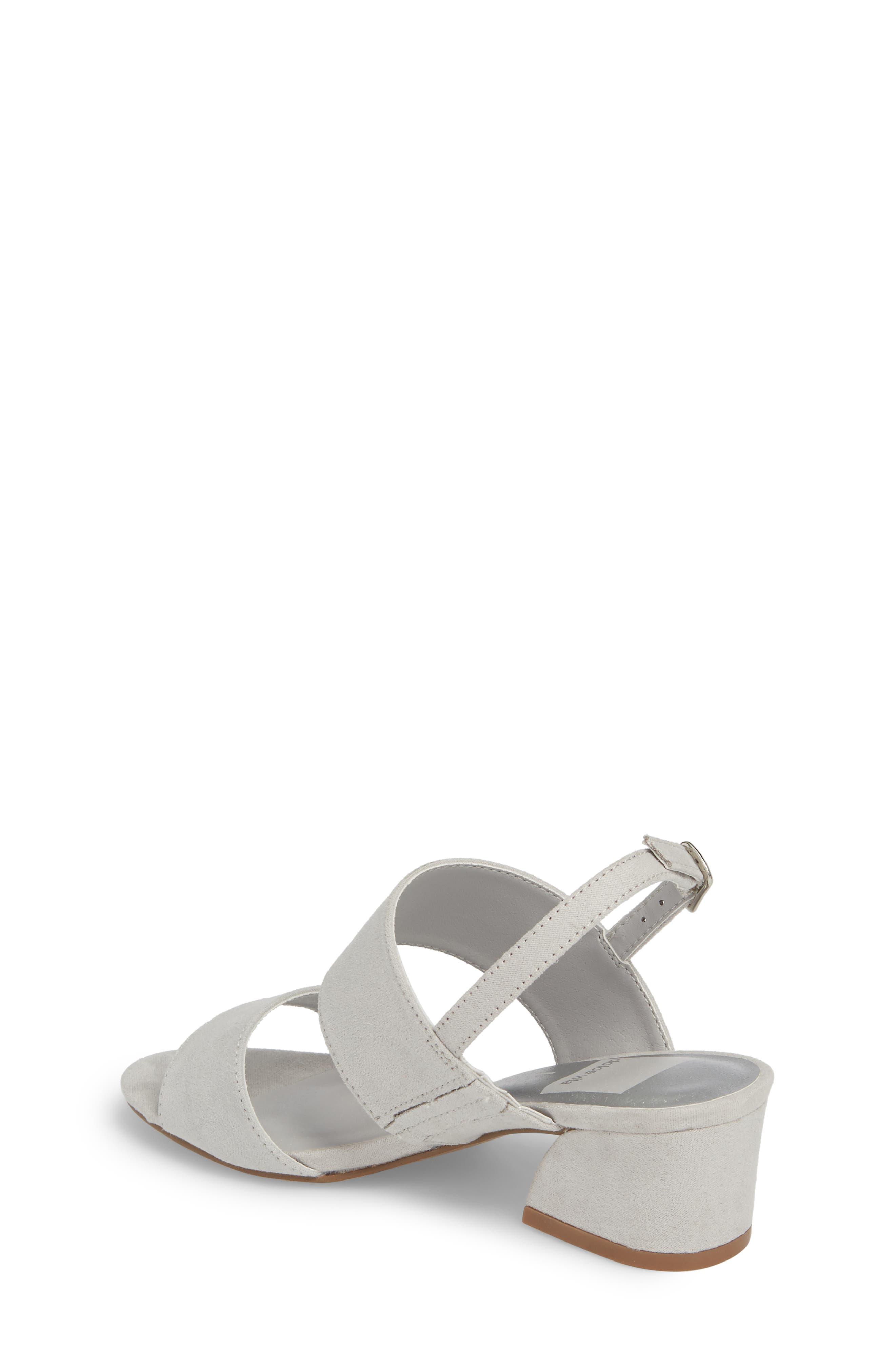 Lorne Flared Heel Sandal,                             Alternate thumbnail 2, color,                             Light Grey