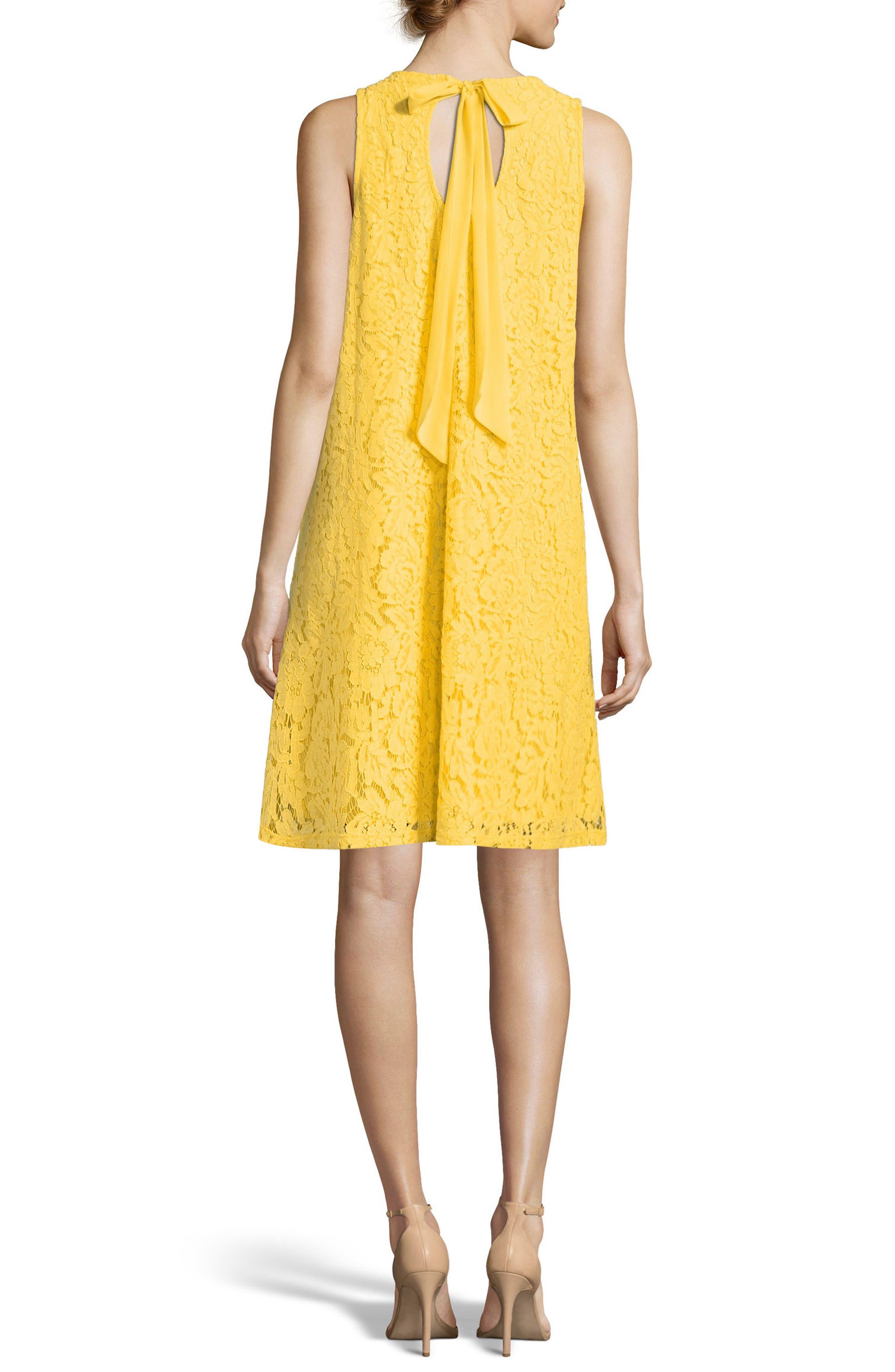Lace A-Line Dress,                             Alternate thumbnail 2, color,                             Delightful Daisy