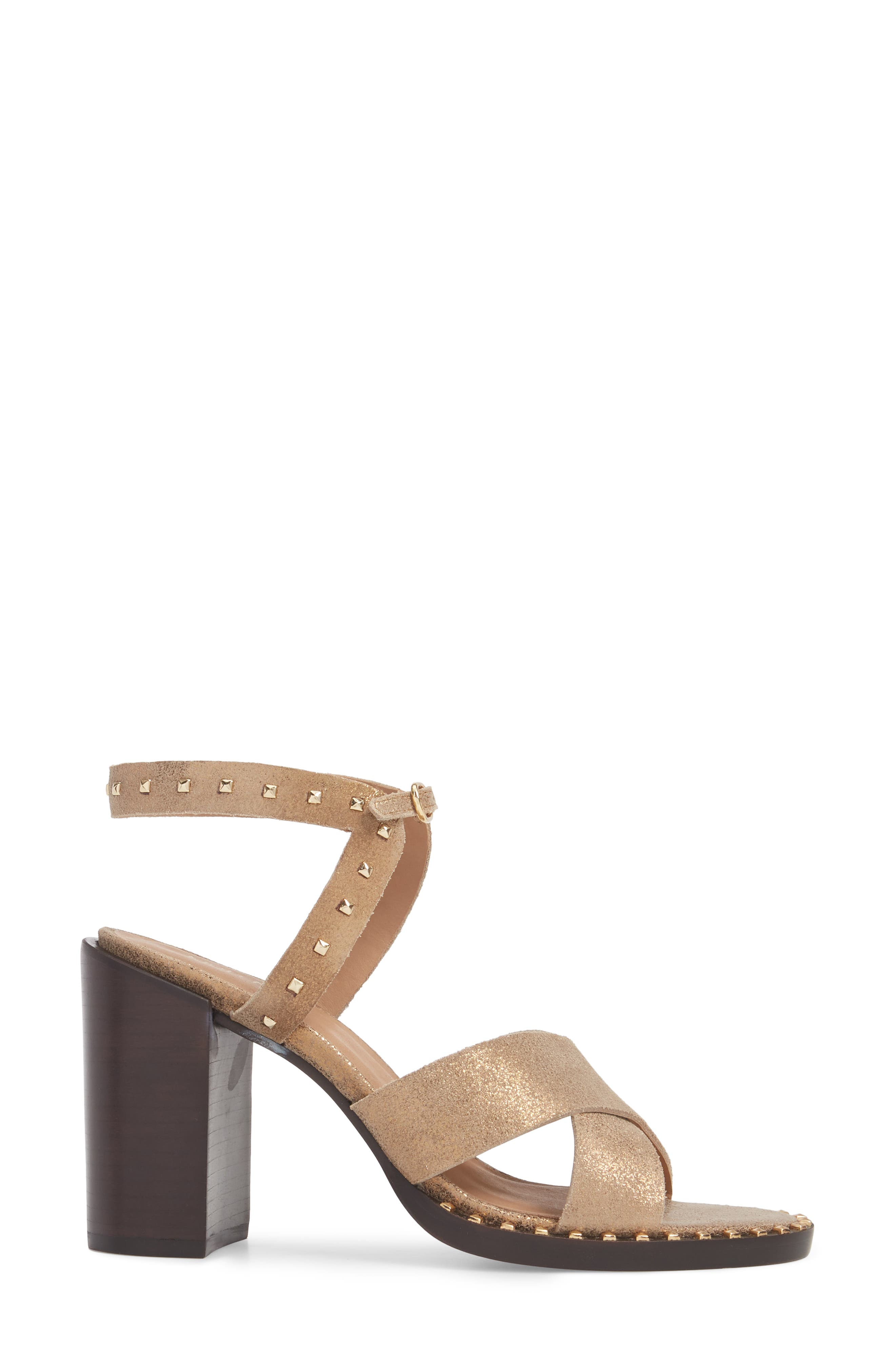 Tabia Sandal,                             Alternate thumbnail 3, color,                             Bronze Suede
