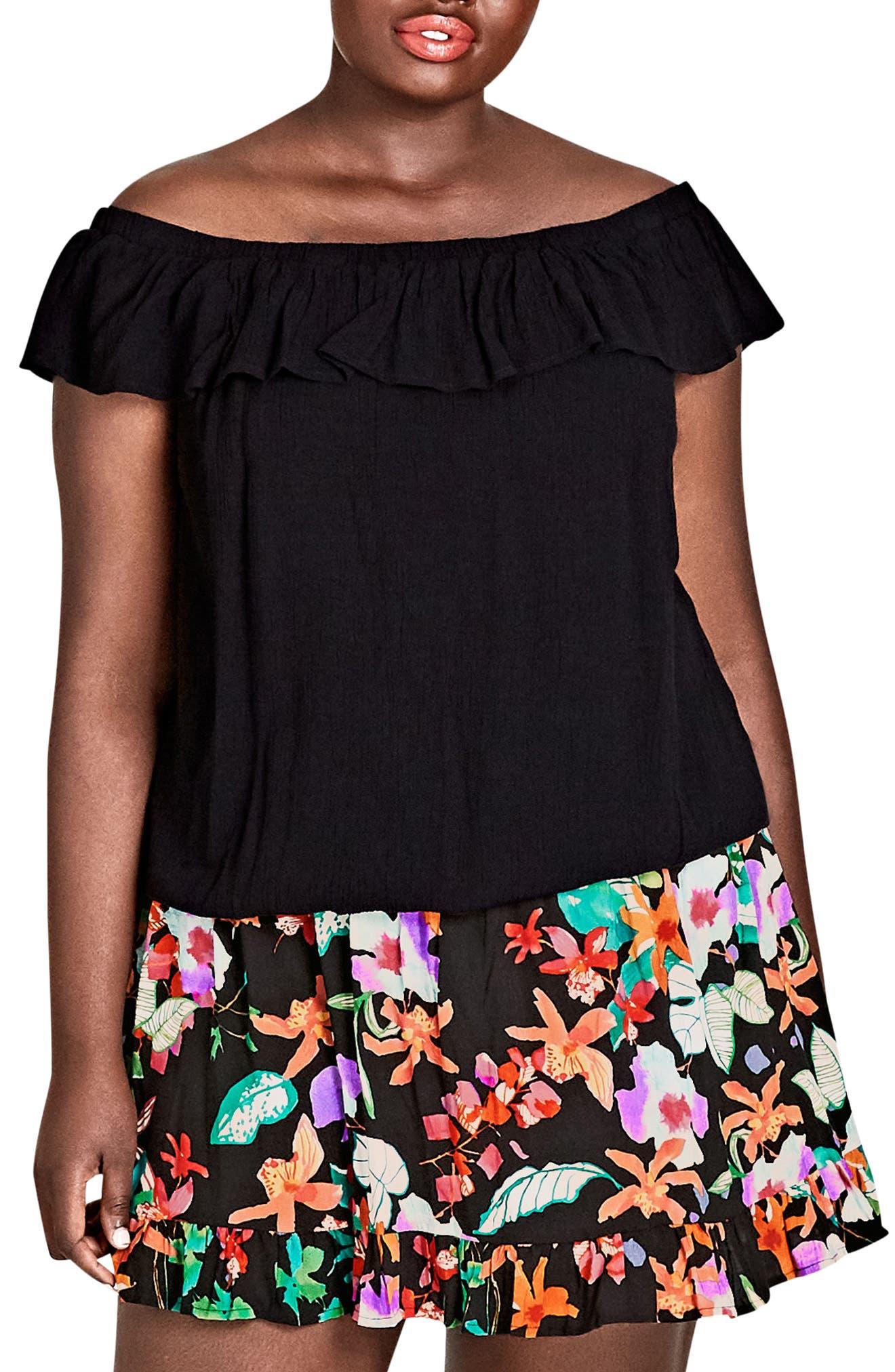 Summer Delight Top,                         Main,                         color, Black