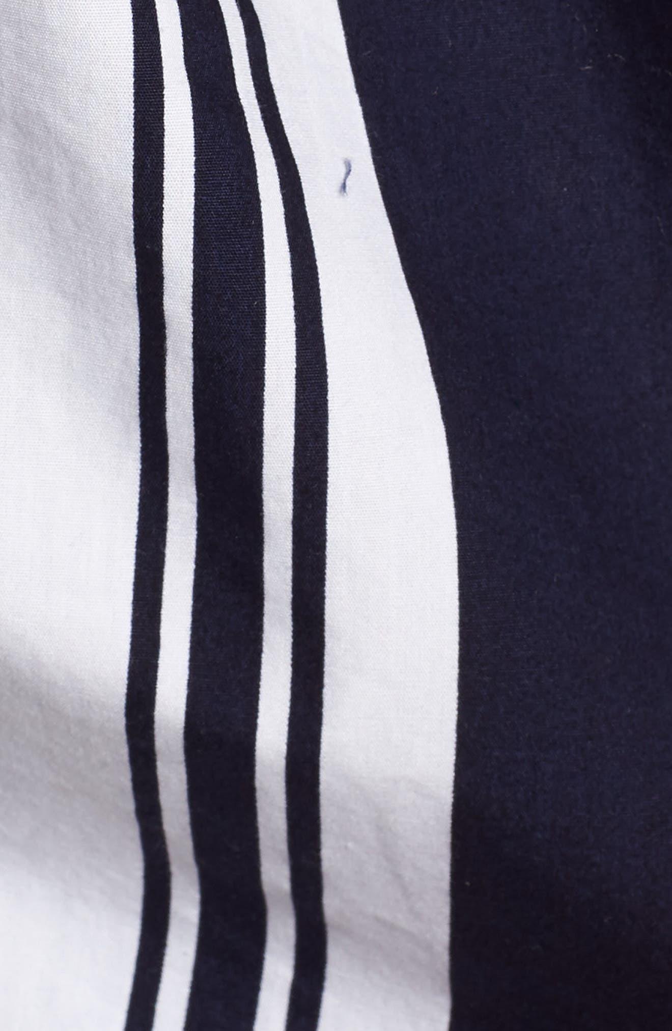Stripe Poplin Halter Top,                             Alternate thumbnail 6, color,                             Navy Peacoat Umbrella Stripe
