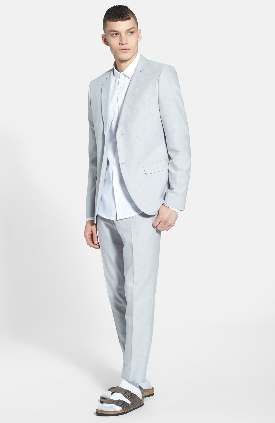 Alternate Image 8  - Topman Slim Fit Textured Cotton Dress Shirt