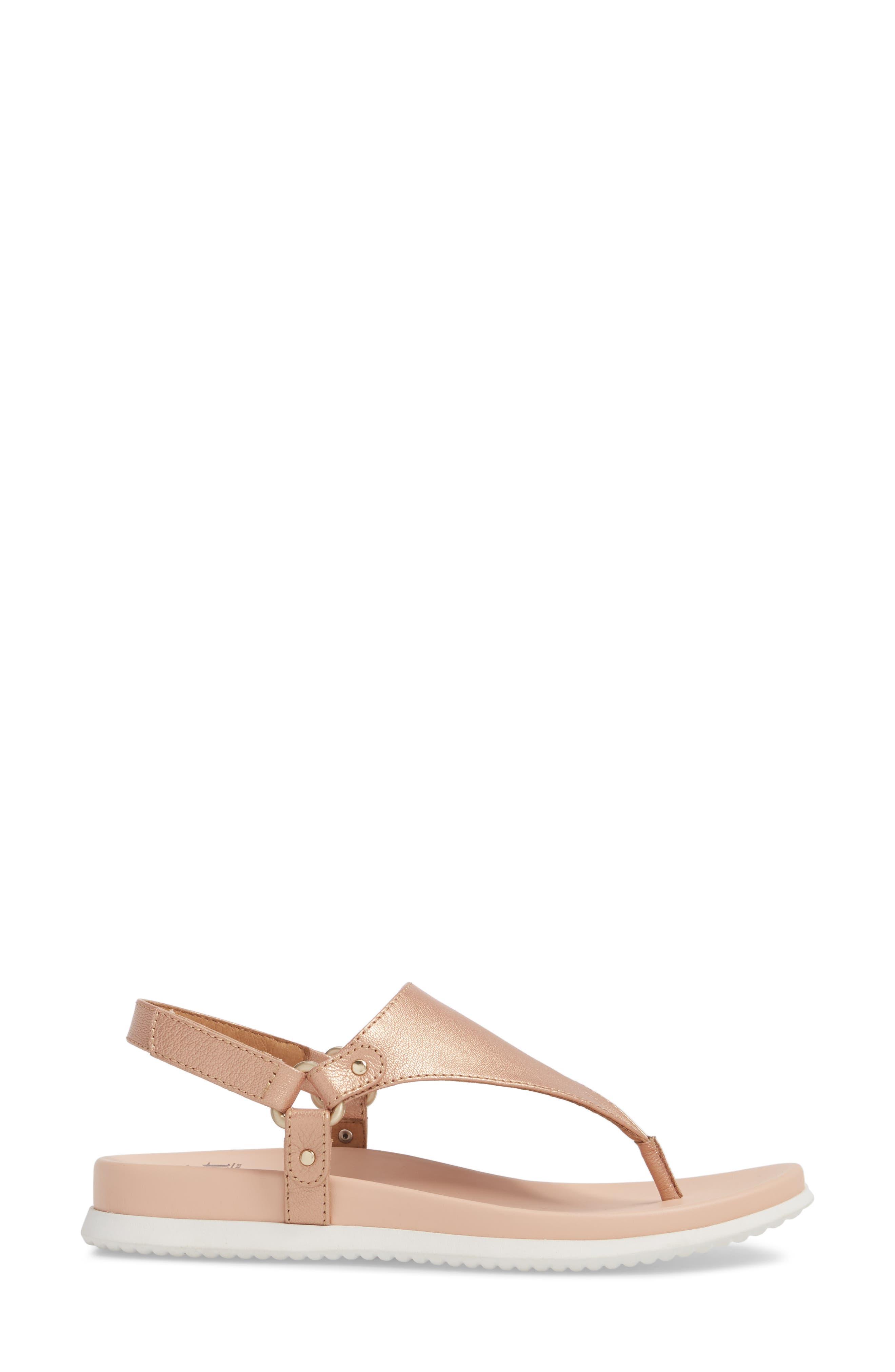 Felisa Sandal,                             Alternate thumbnail 3, color,                             Rose Gold Leather